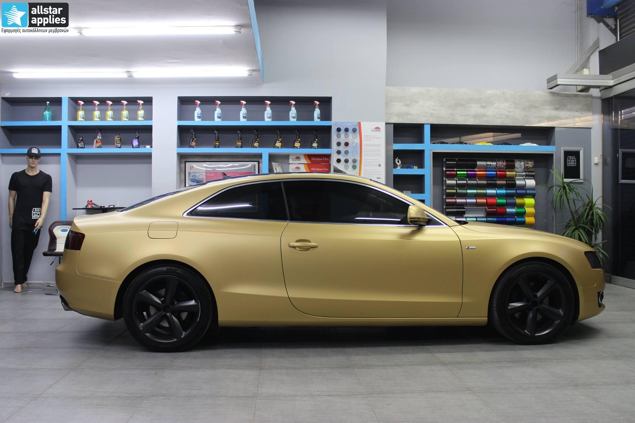 Audi A5 - Satin Gold Matte (4)