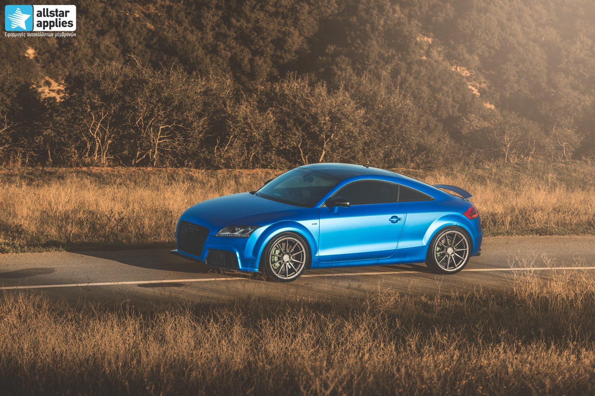 Audi TT - Matte Iced Blue + Ispiri Wheels FFR1 Matte (1)