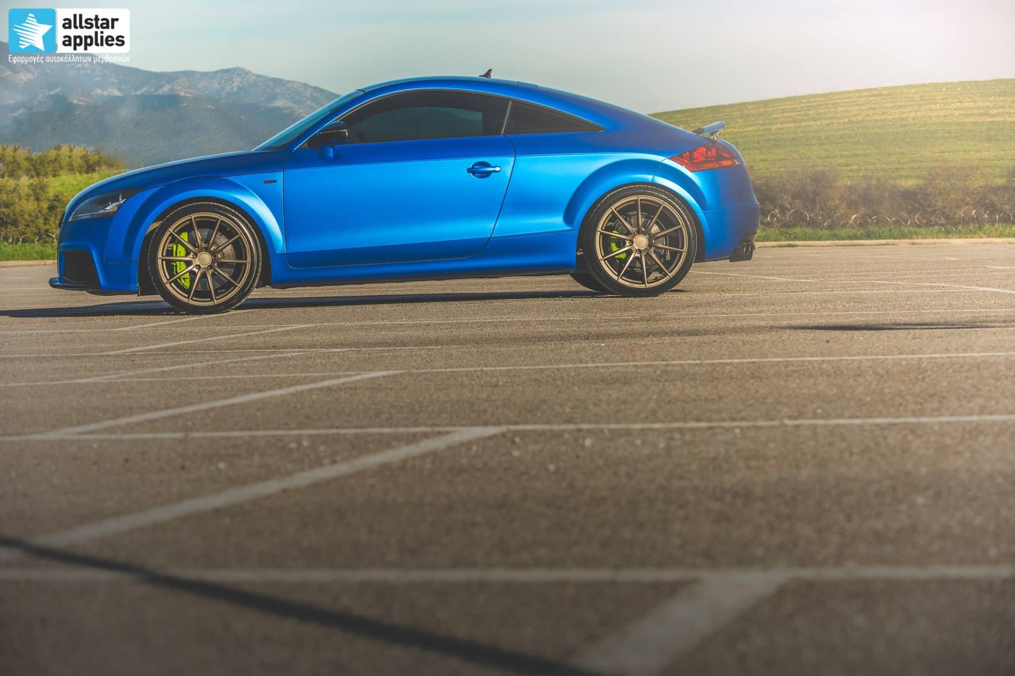 Audi TT - Matte Iced Blue + Ispiri Wheels FFR1 Matte (10)