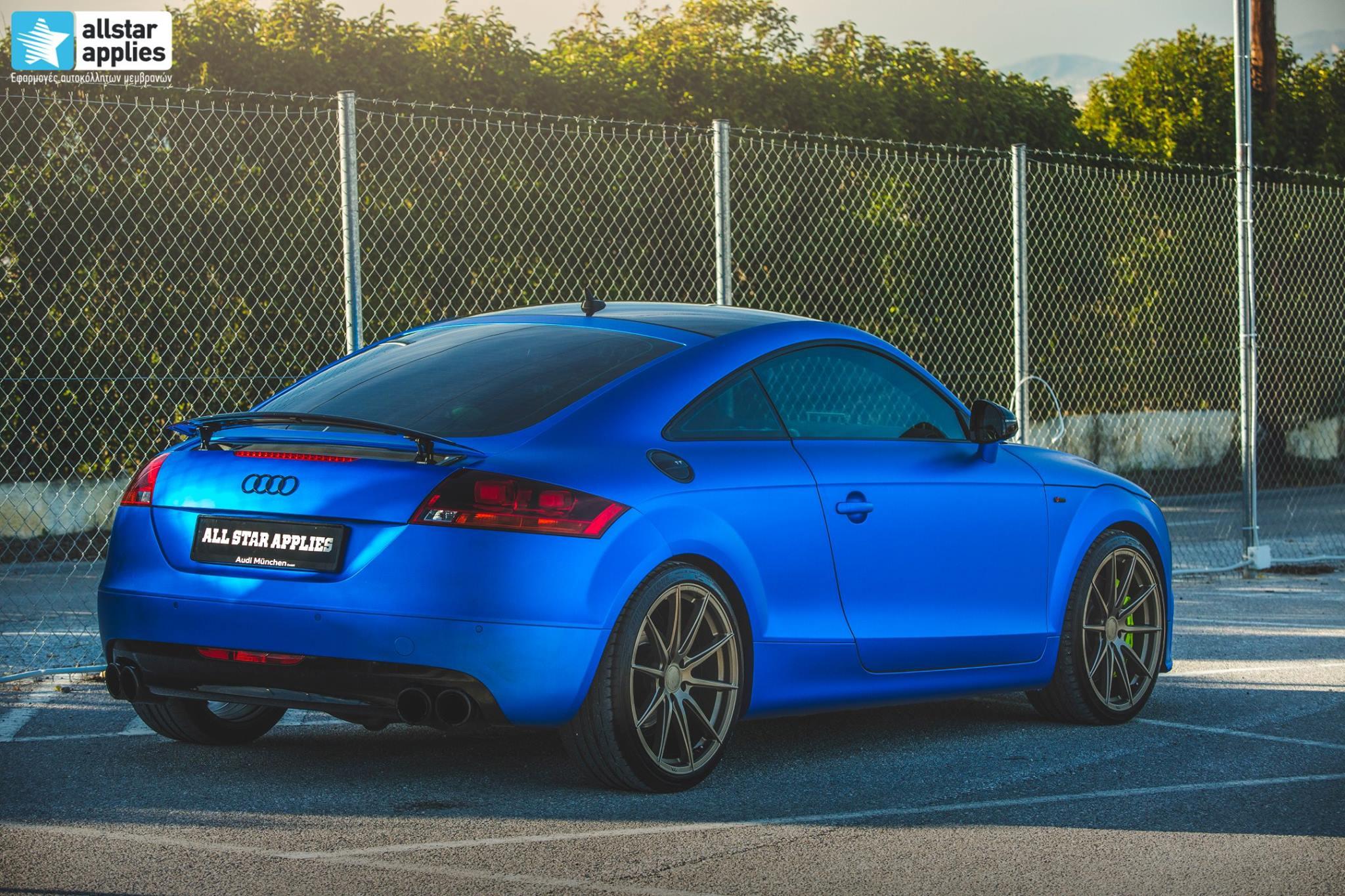 Audi TT - Matte Iced Blue + Ispiri Wheels FFR1 Matte (11)