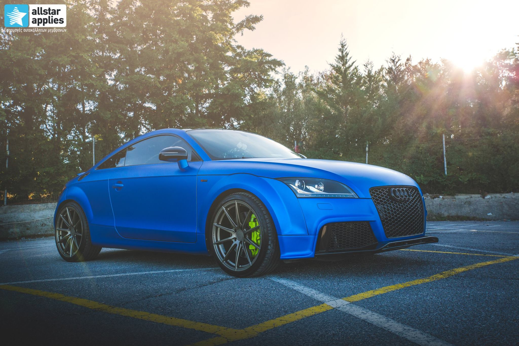 Audi TT - Matte Iced Blue + Ispiri Wheels FFR1 Matte (12)