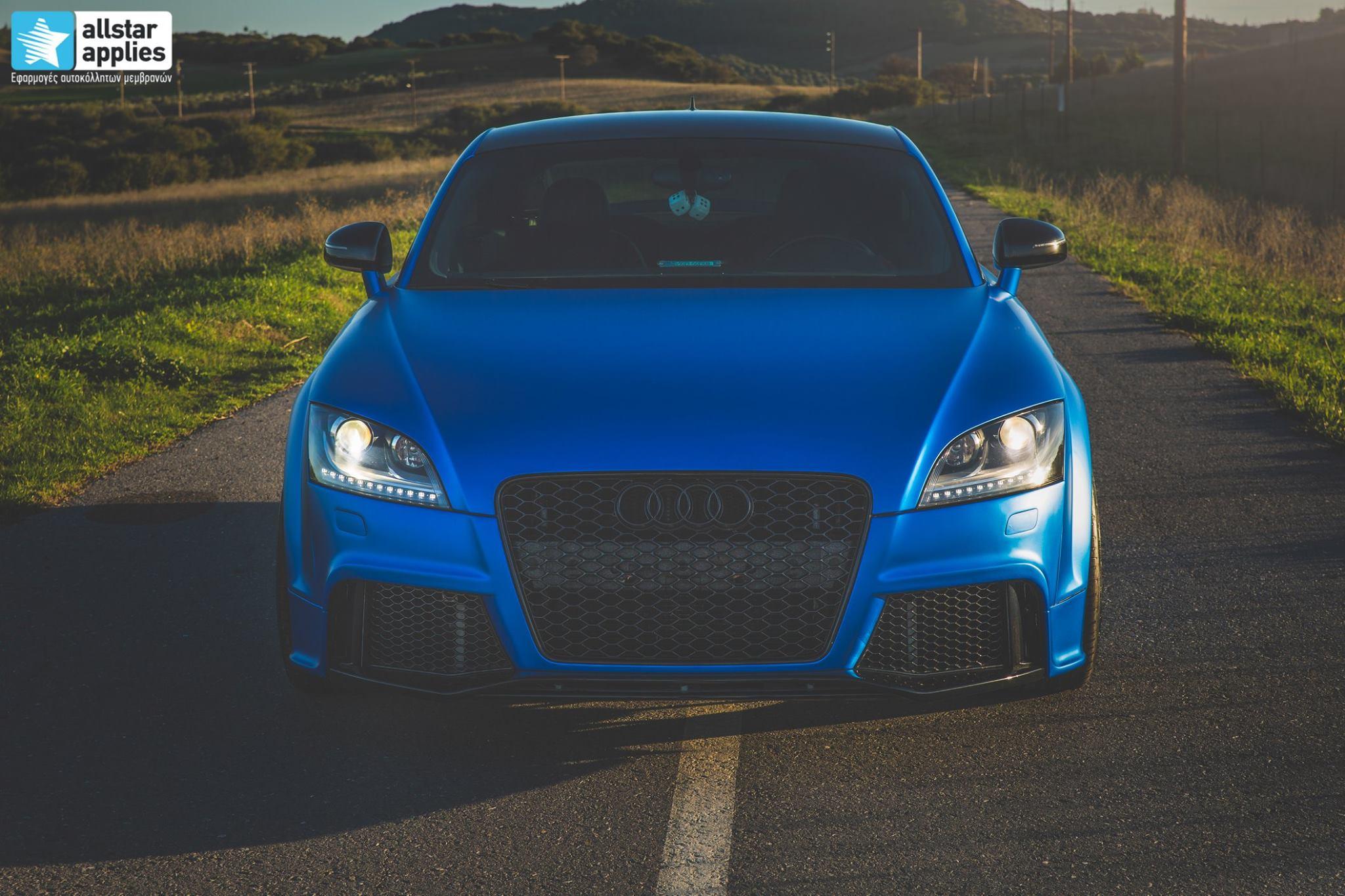 Audi TT - Matte Iced Blue + Ispiri Wheels FFR1 Matte (13)