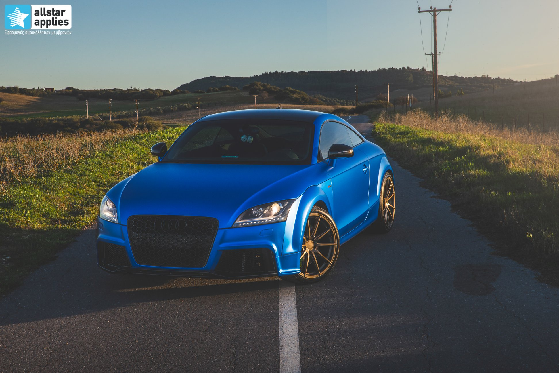 Audi TT - Matte Iced Blue + Ispiri Wheels FFR1 Matte (15)