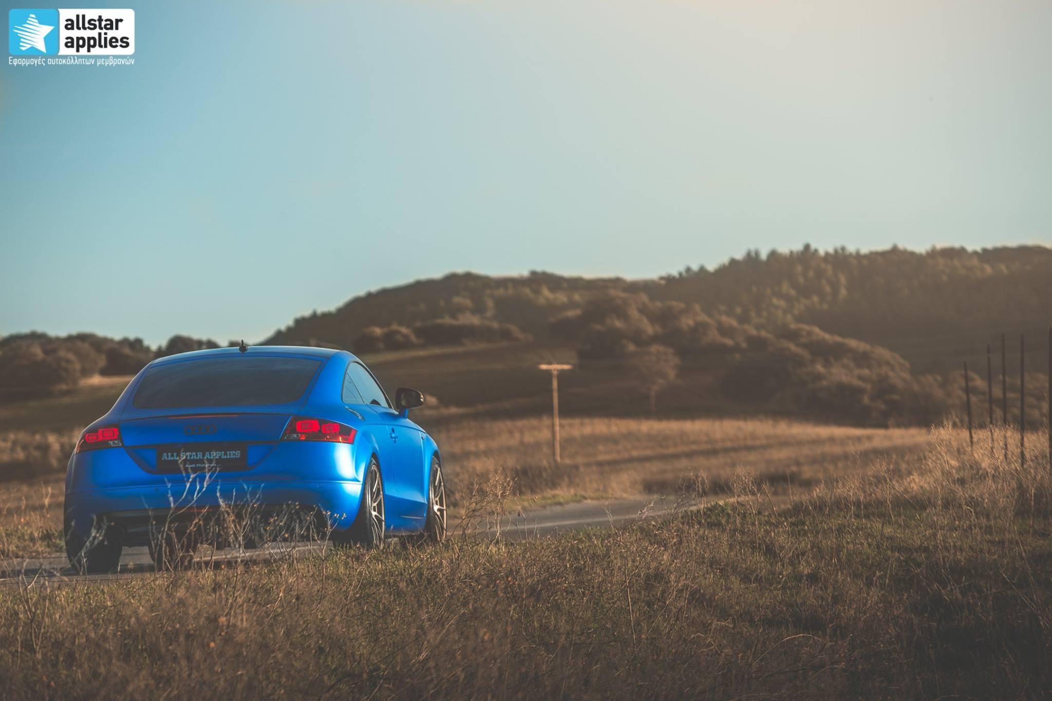 Audi TT - Matte Iced Blue + Ispiri Wheels FFR1 Matte (4)