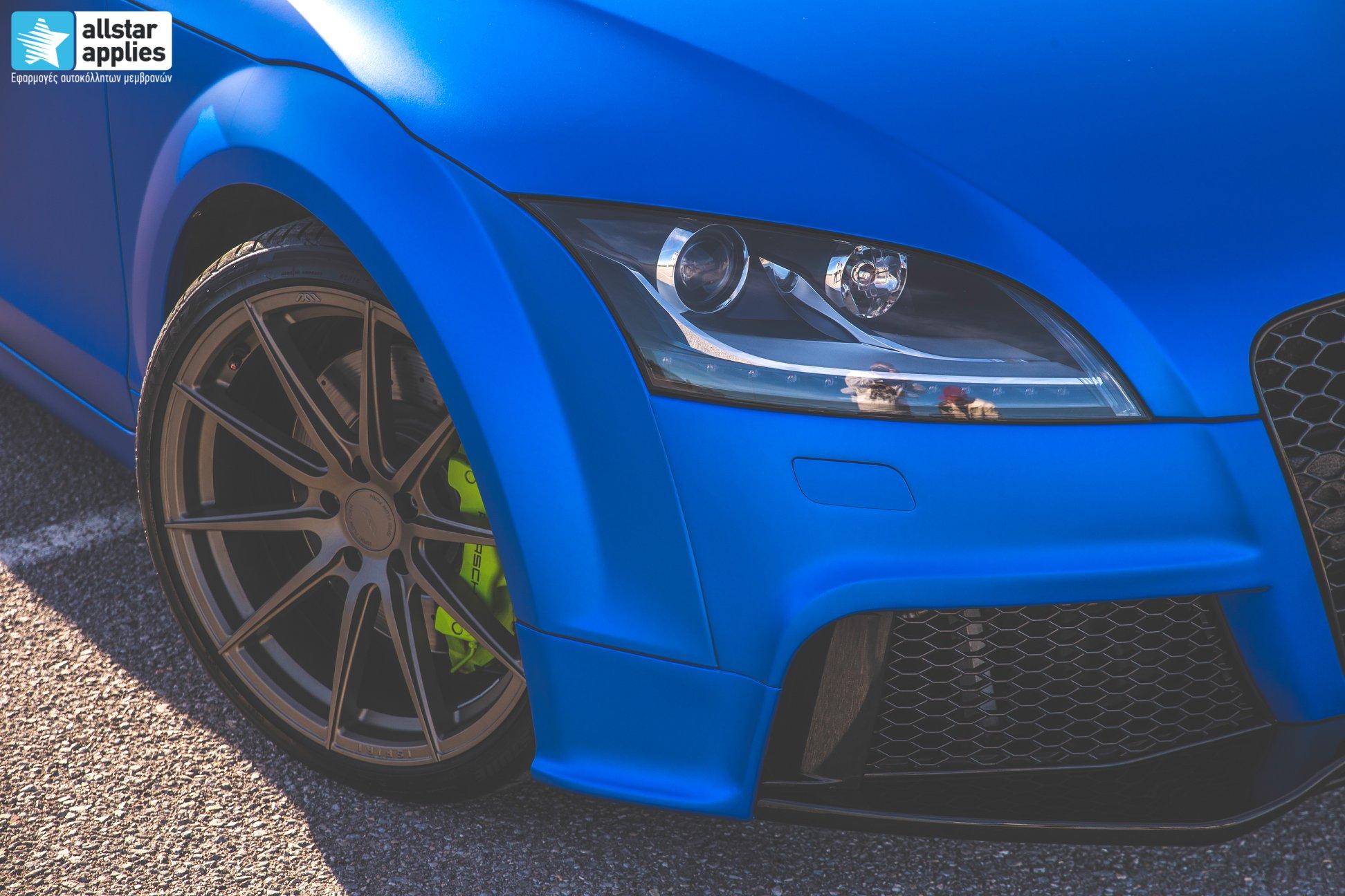 Audi TT - Matte Iced Blue + Ispiri Wheels FFR1 Matte (5)