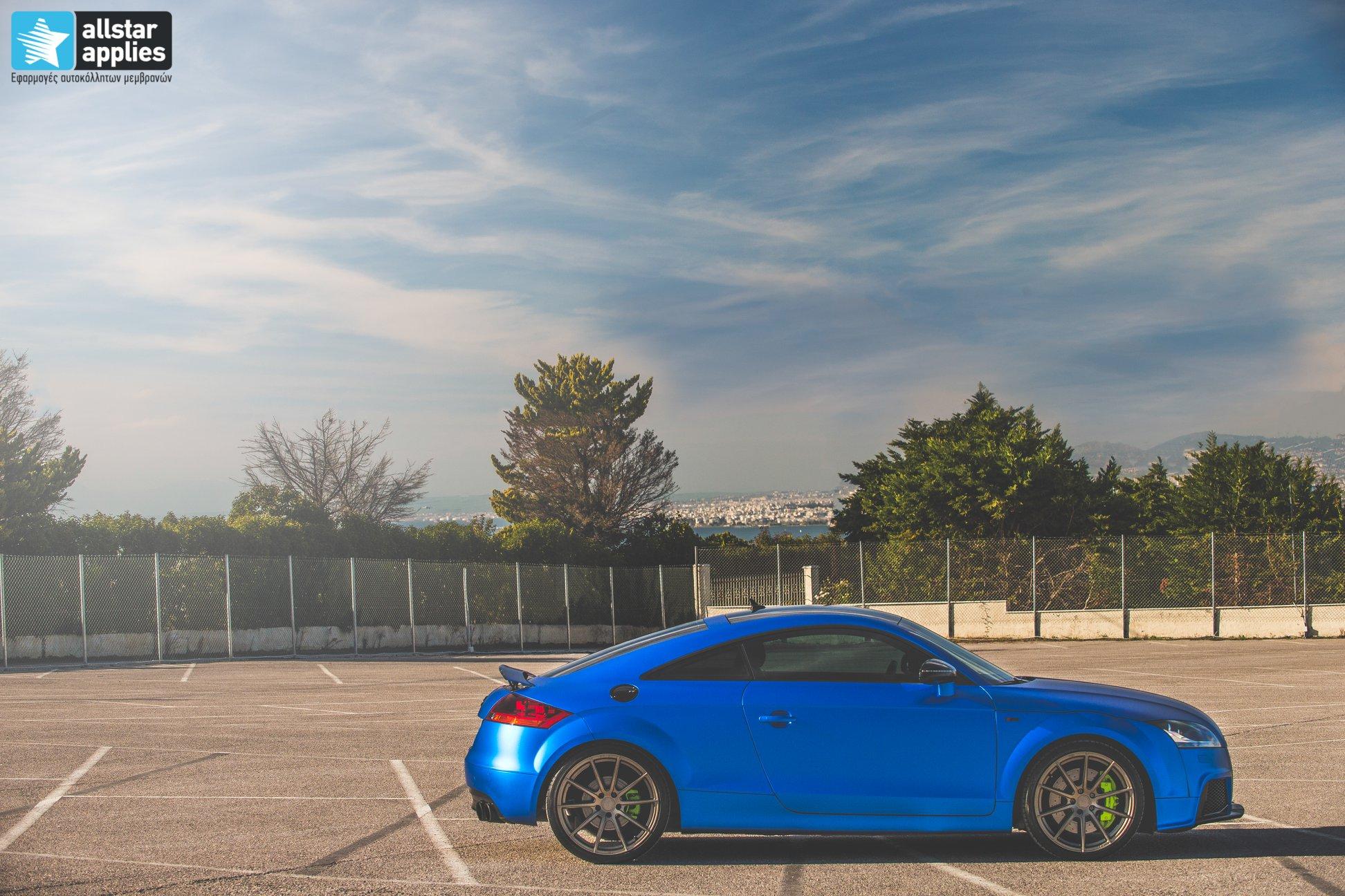 Audi TT - Matte Iced Blue + Ispiri Wheels FFR1 Matte (6)
