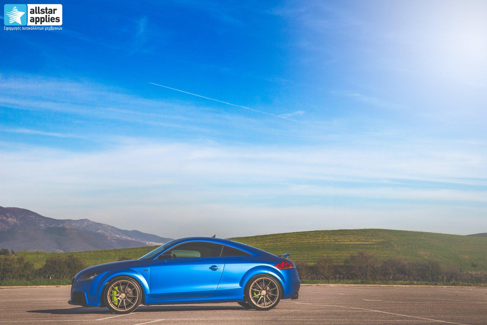 Audi TT - Matte Iced Blue + Ispiri Wheels FFR1 Matte (8)