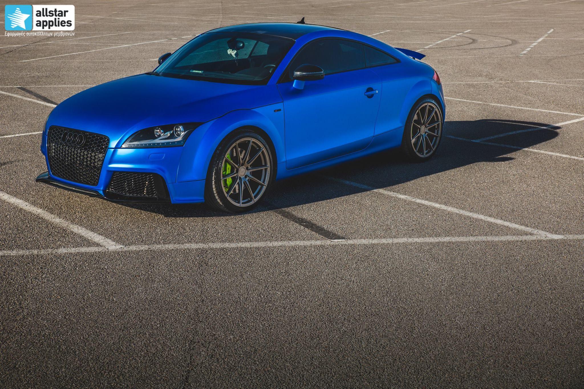 Audi TT - Matte Iced Blue + Ispiri Wheels FFR1 Matte (9)