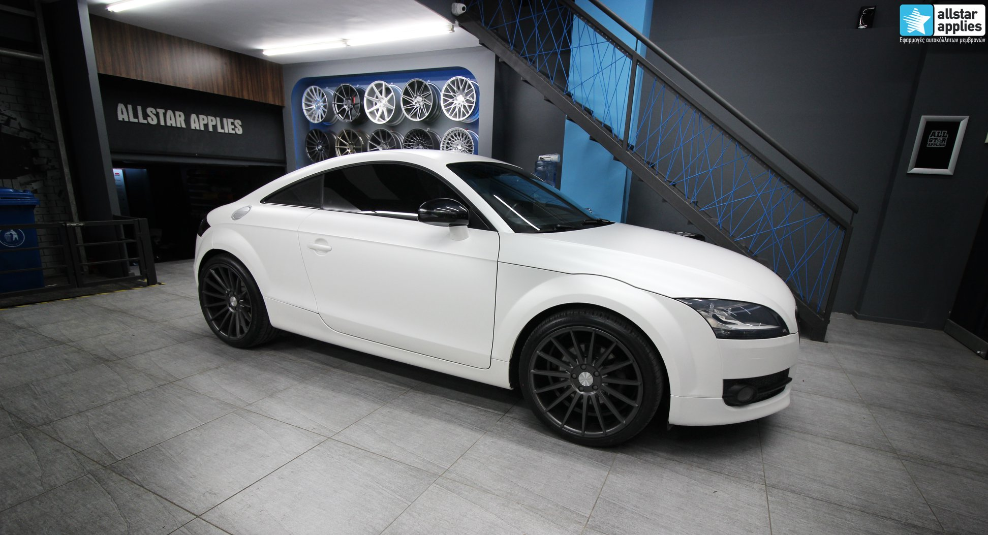 Audi TT - Satin Pearl white + Veemann Wheels VC7 (1)
