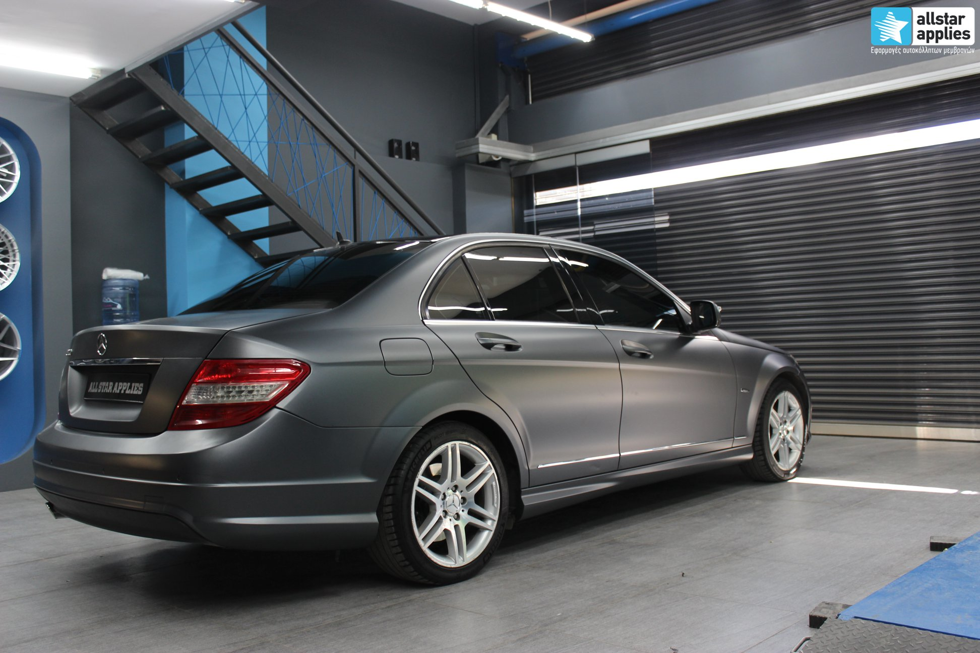 Mercedes C200 AMG - Satin Dark Grey (3)