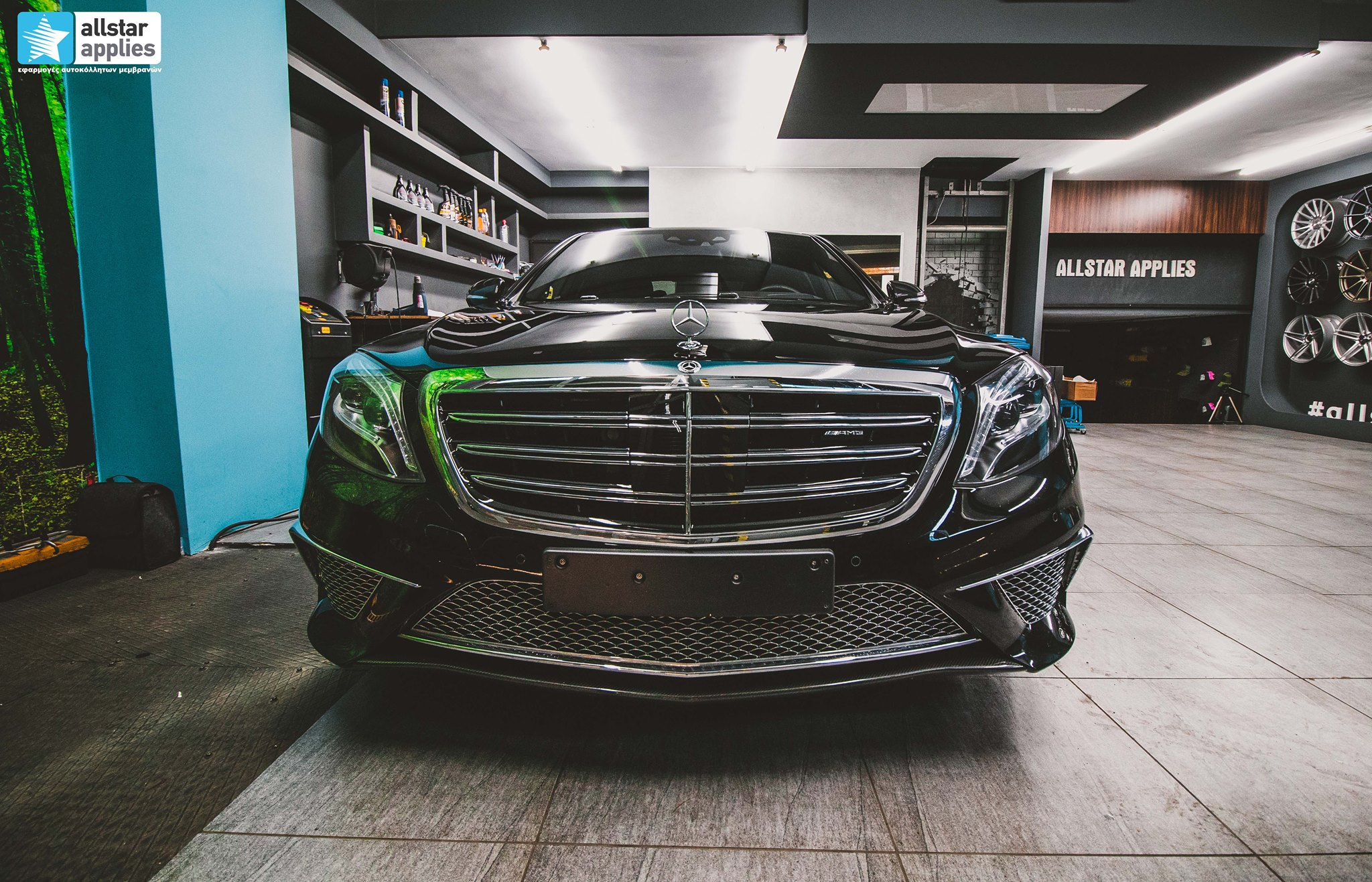 Full paint wrapping Mercedes S65 AMG Thessaloniki