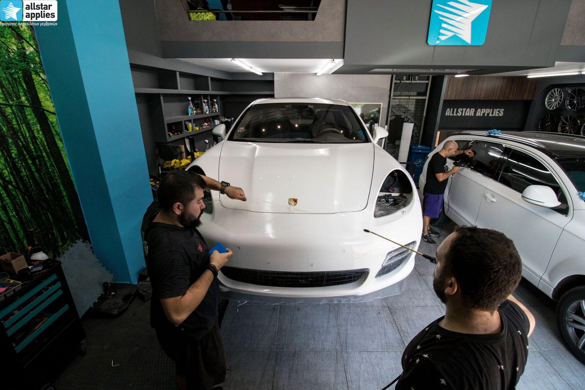 αυτοκόλλητα προστασίας χρώματος Porsche Panamera Θεσσαλονίκη