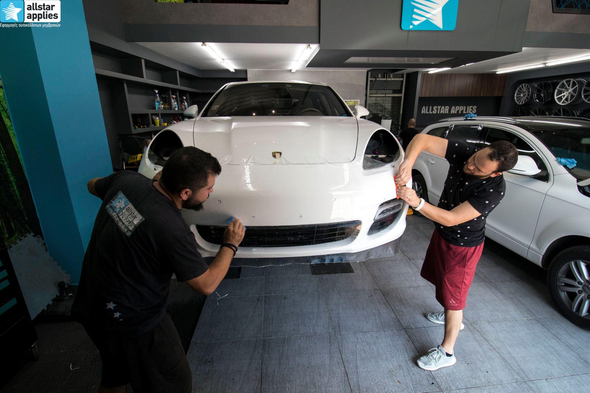 μεμβράνες προστασίας χρώματος Porsche Panamera Θεσσαλονίκη