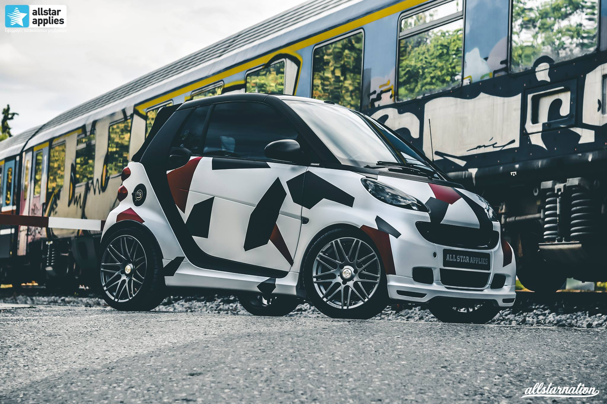 Smart Brabus 451 Cabrio - Polygon Camo (2)