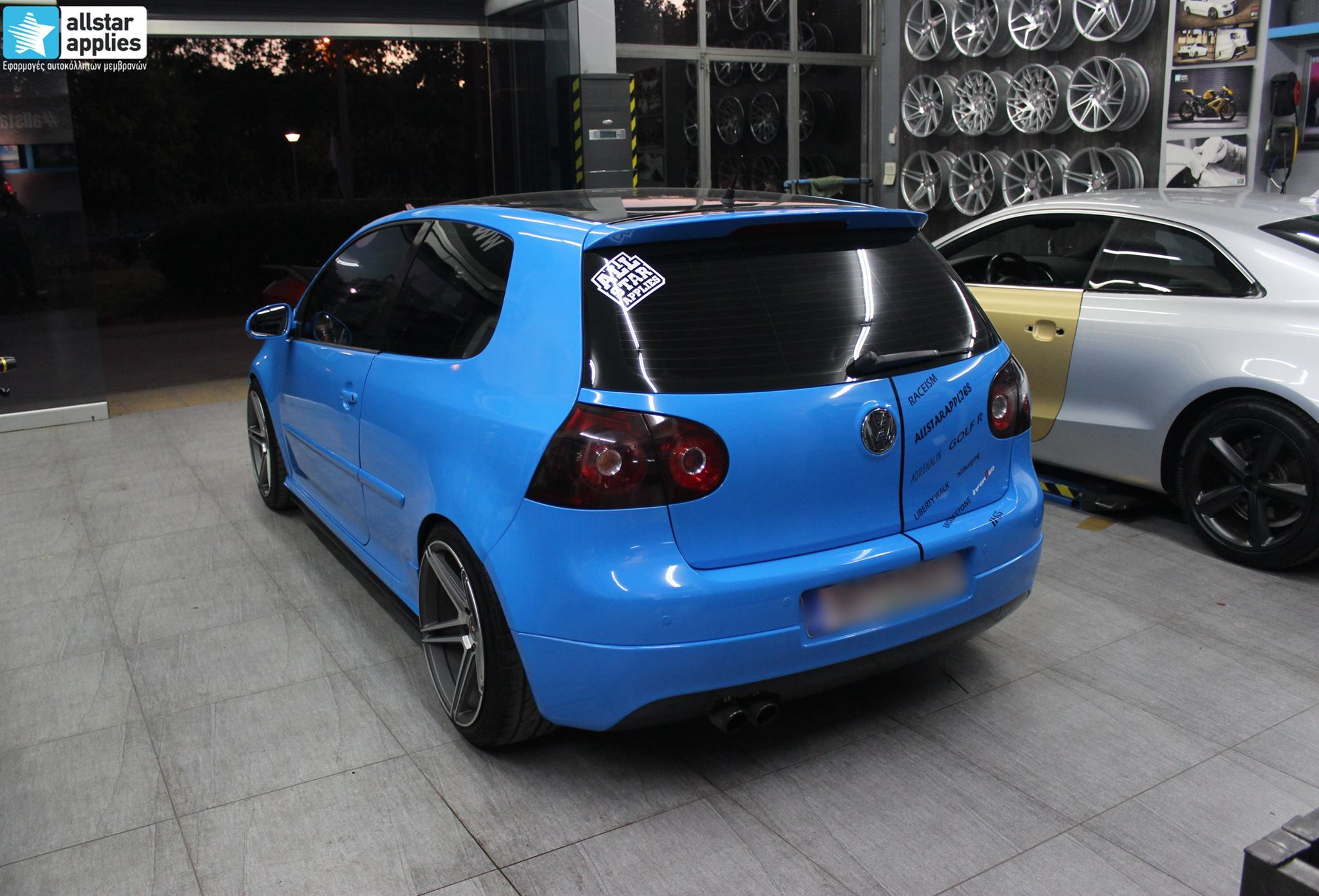 VW Golf 5 - Baby Blue + Inforged Wheels IFG-5 (7)