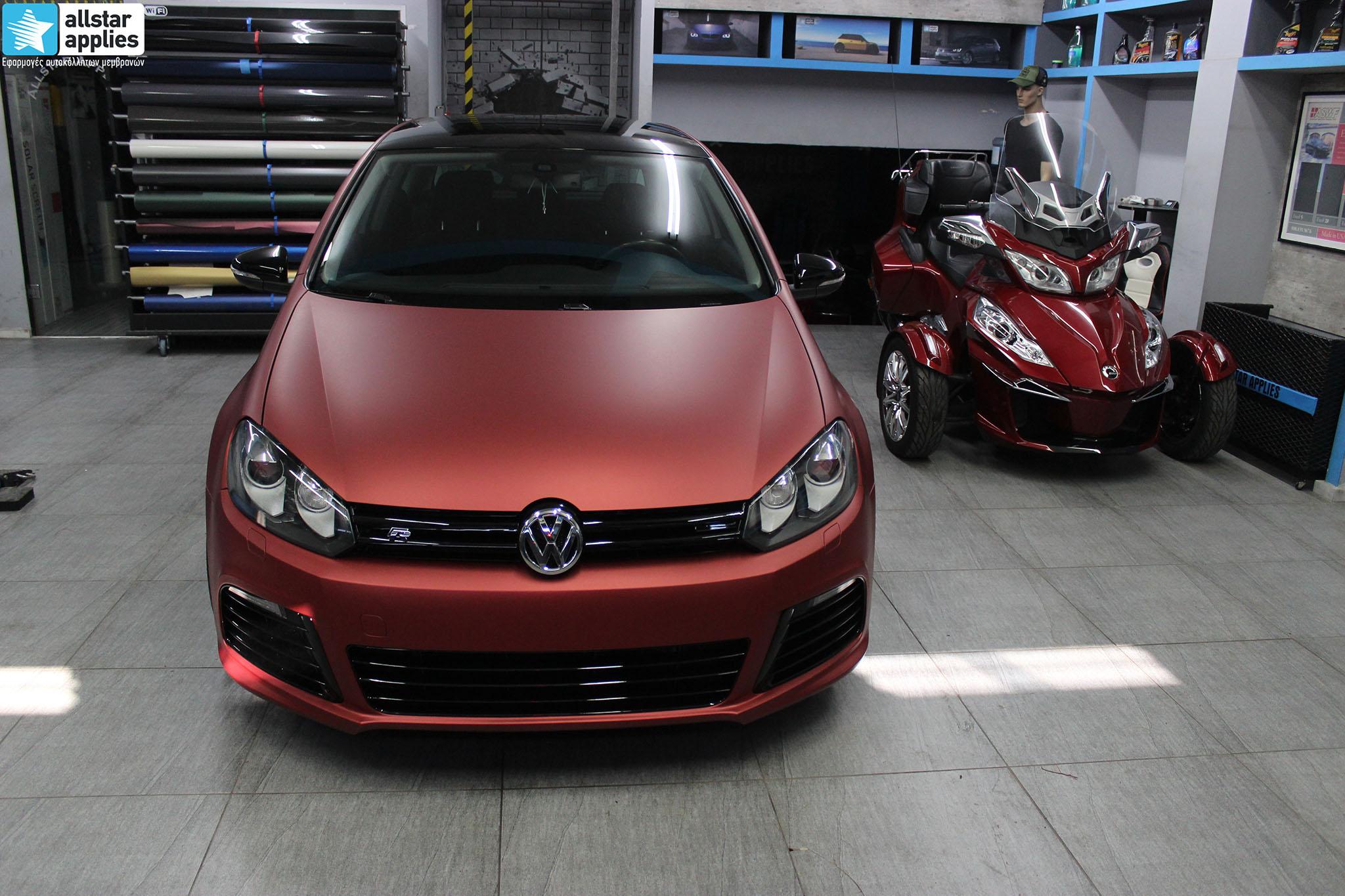 αυτοκόλλητα αλλαγής χρώματος VW Golf 6 Θεσσαλονίκη