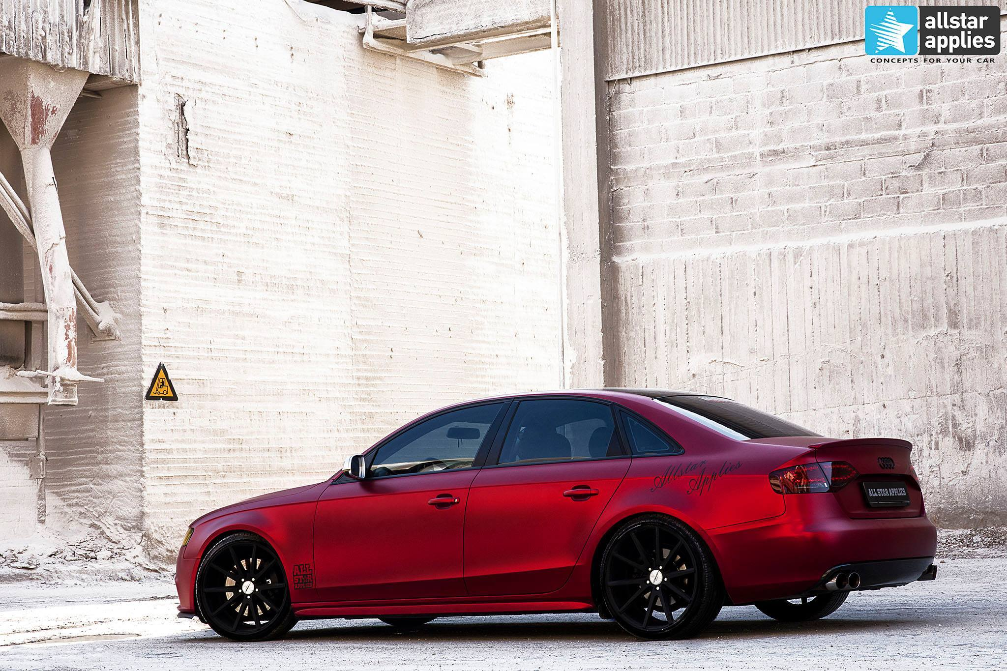 Audi a4 - cherry red chrome 3
