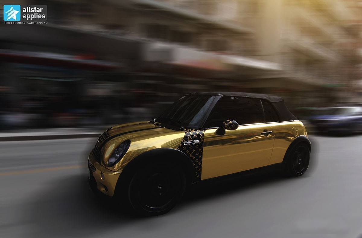 Mini cooper - gold chrome 1