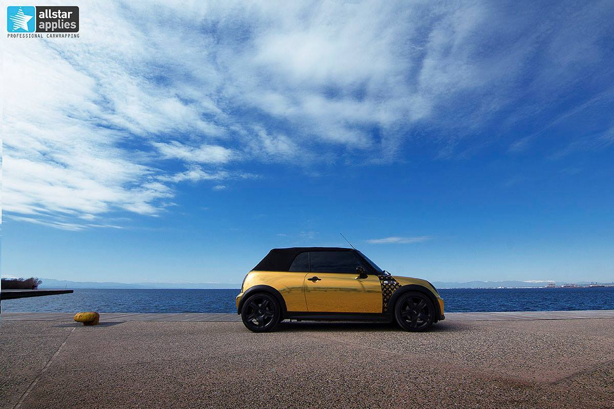 Mini cooper - gold chrome 2