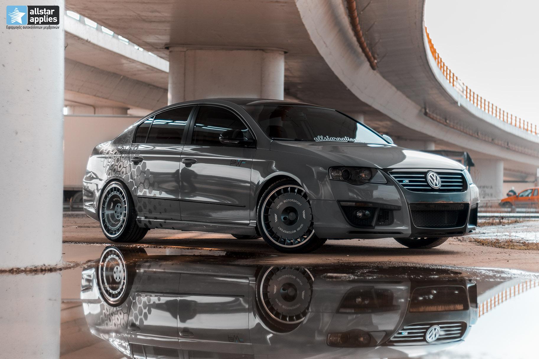 VW Passat - Nardo grey + honeycomb design 1