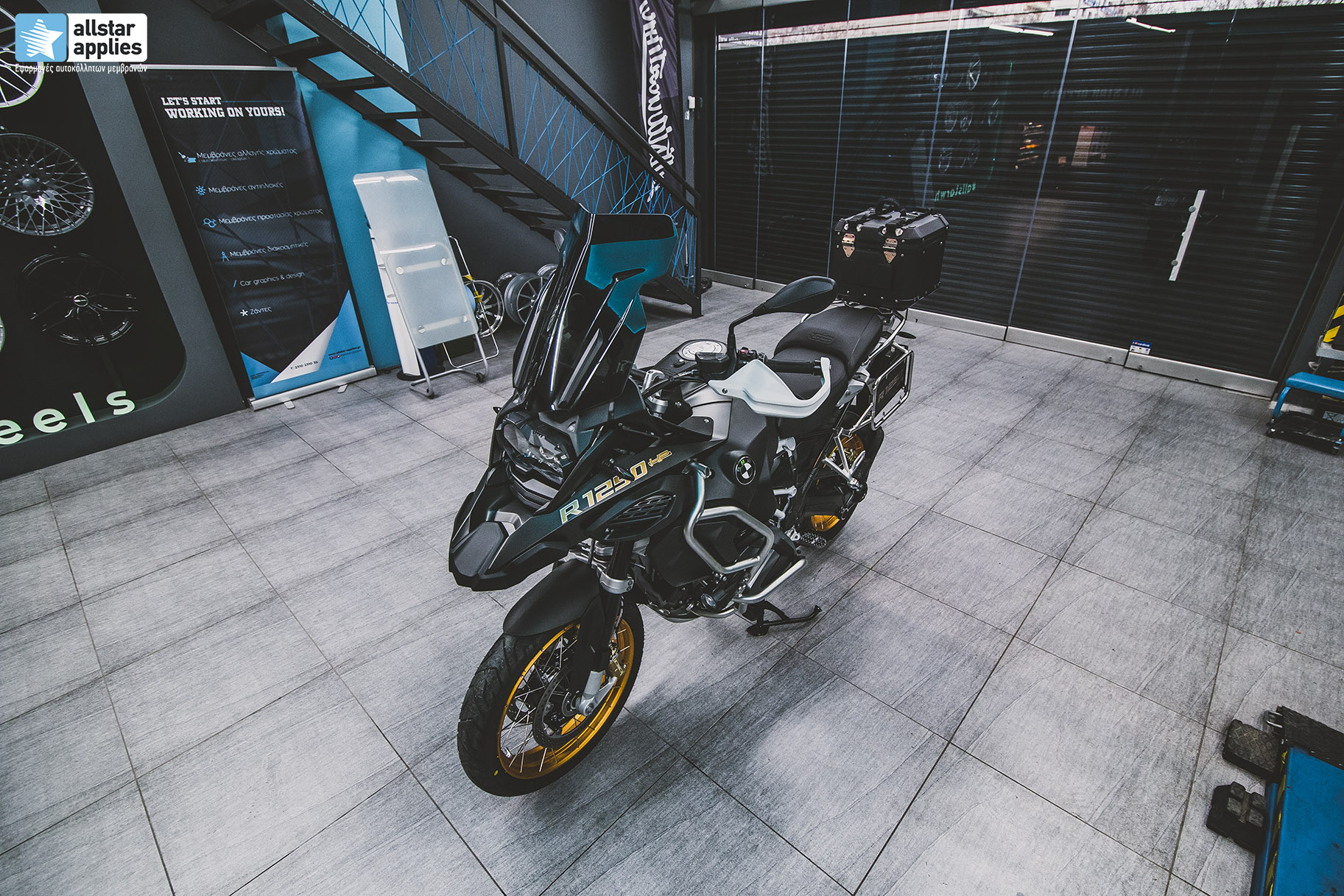 moto wrapping Bmw gs1250 Allstar applies
