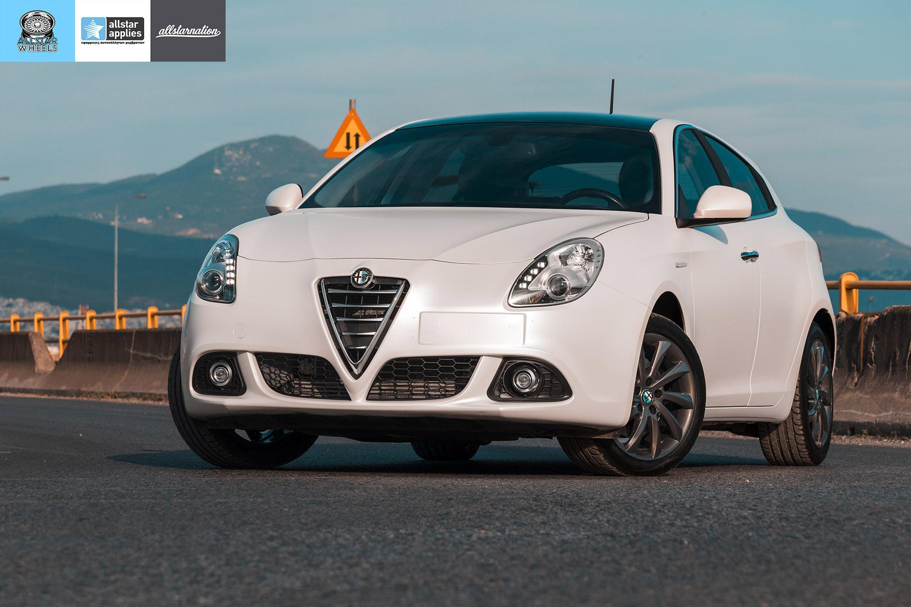 Αλλαγής Χρώματος με Μεμβράνη Alfa Romeo Giulietta Matt Diamond White | Allstar Applies στη Θεσσαλονίκη