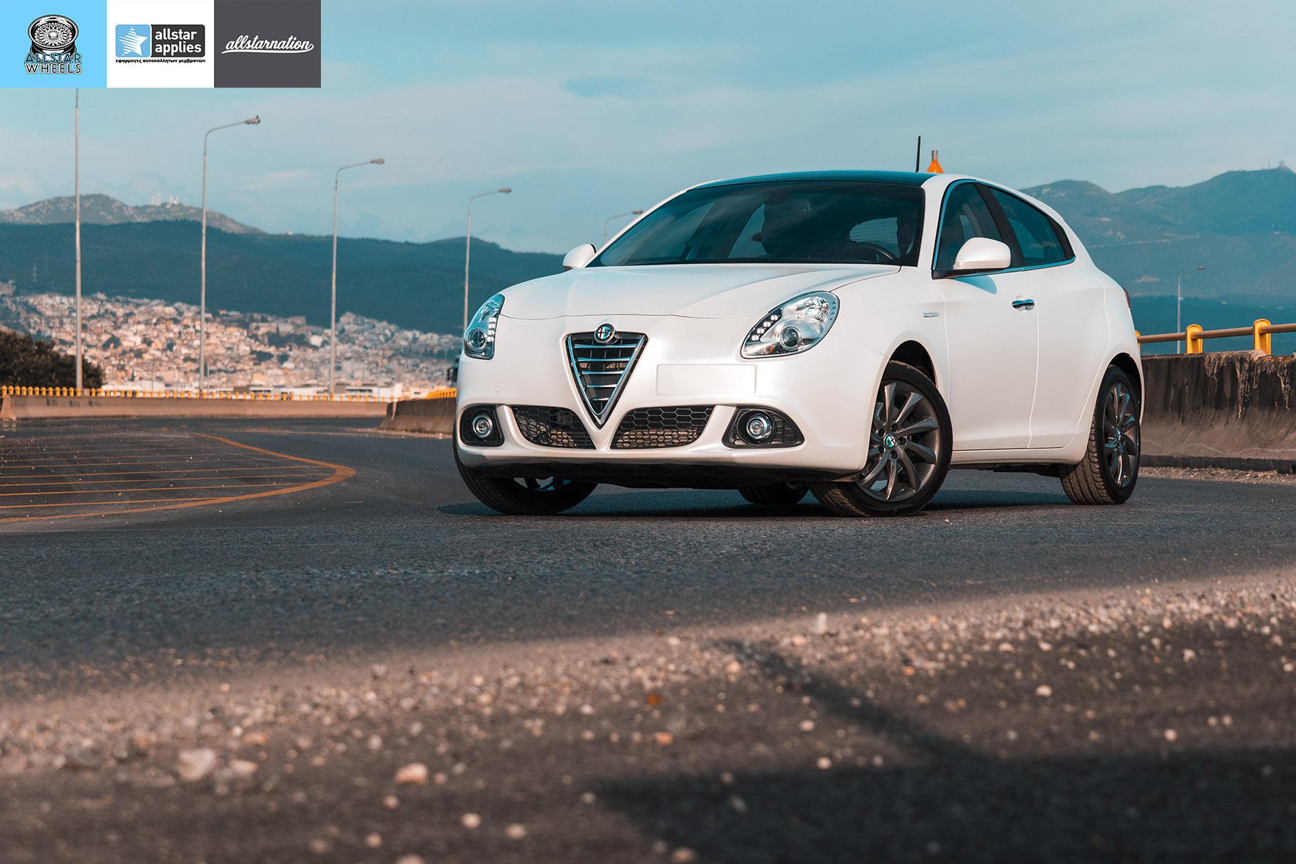 Αλλαγής Χρώματος με Μεμβράνες Alfa Romeo Giulietta Matt Diamond White | Allstar Applies στη Θεσσαλονίκη