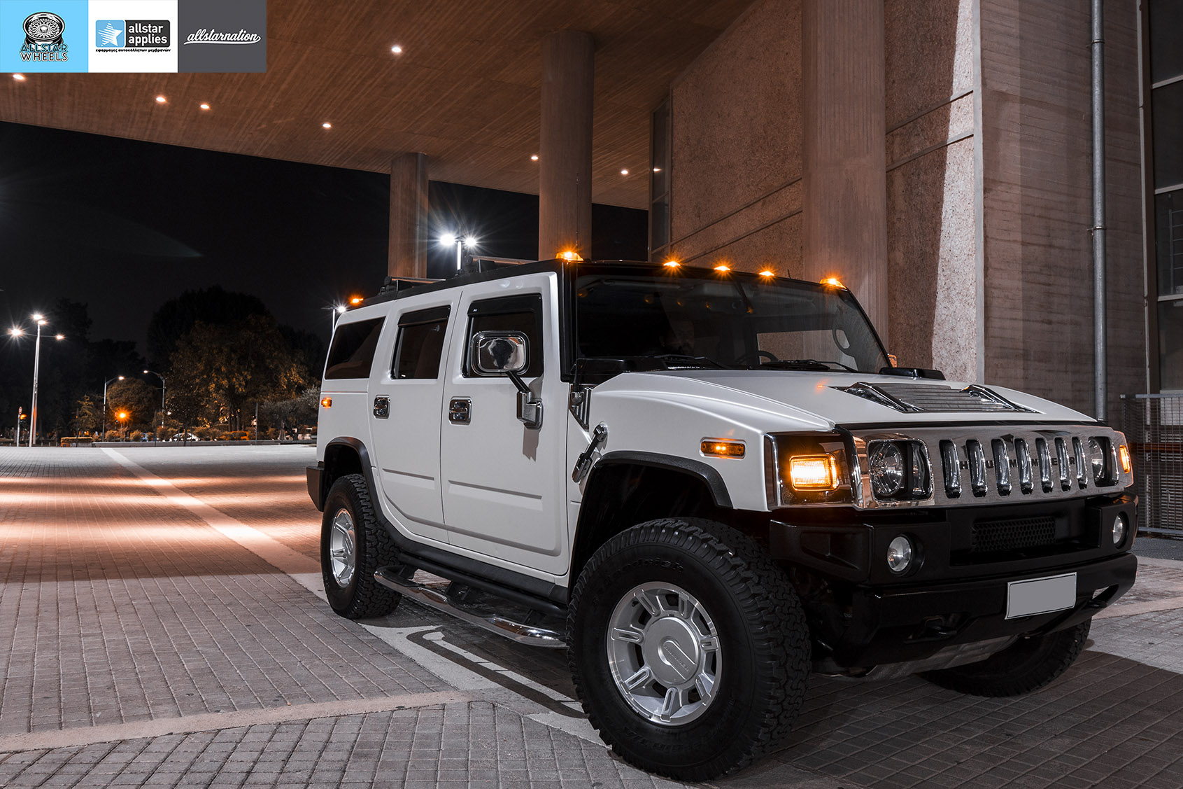 HUMMER H2 ALLSTAR APPLIES MATT DIAMOND WHITE PWF (12)