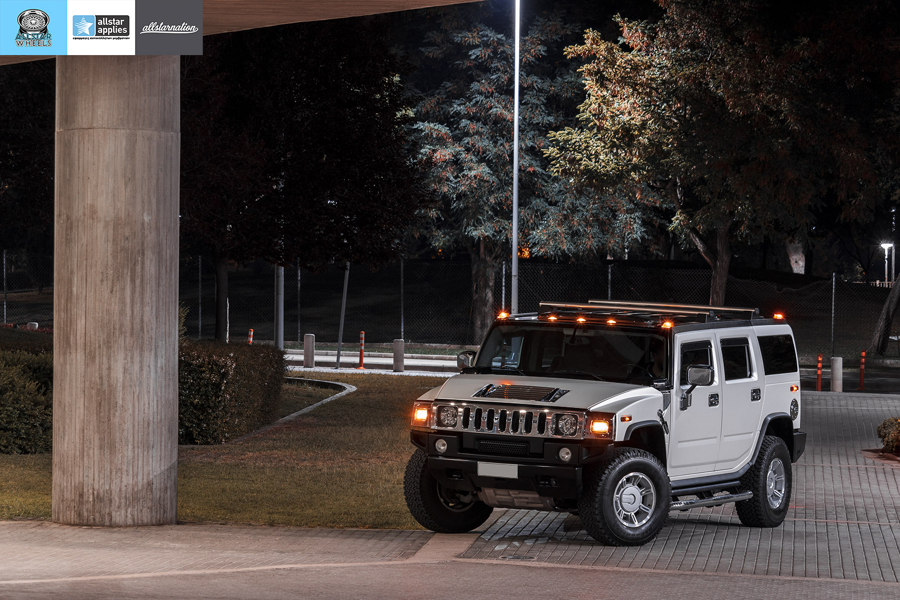 HUMMER H2 ALLSTAR APPLIES MATT DIAMOND WHITE PWF (14)