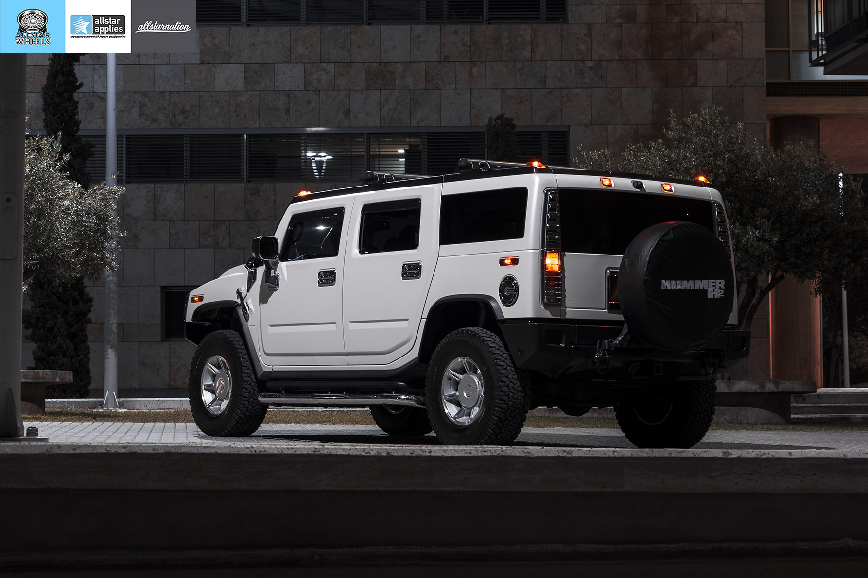 HUMMER H2 ALLSTAR APPLIES MATT DIAMOND WHITE PWF (2)