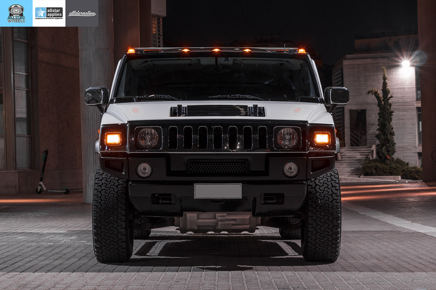 HUMMER H2 ALLSTAR APPLIES MATT DIAMOND WHITE PWF (5)