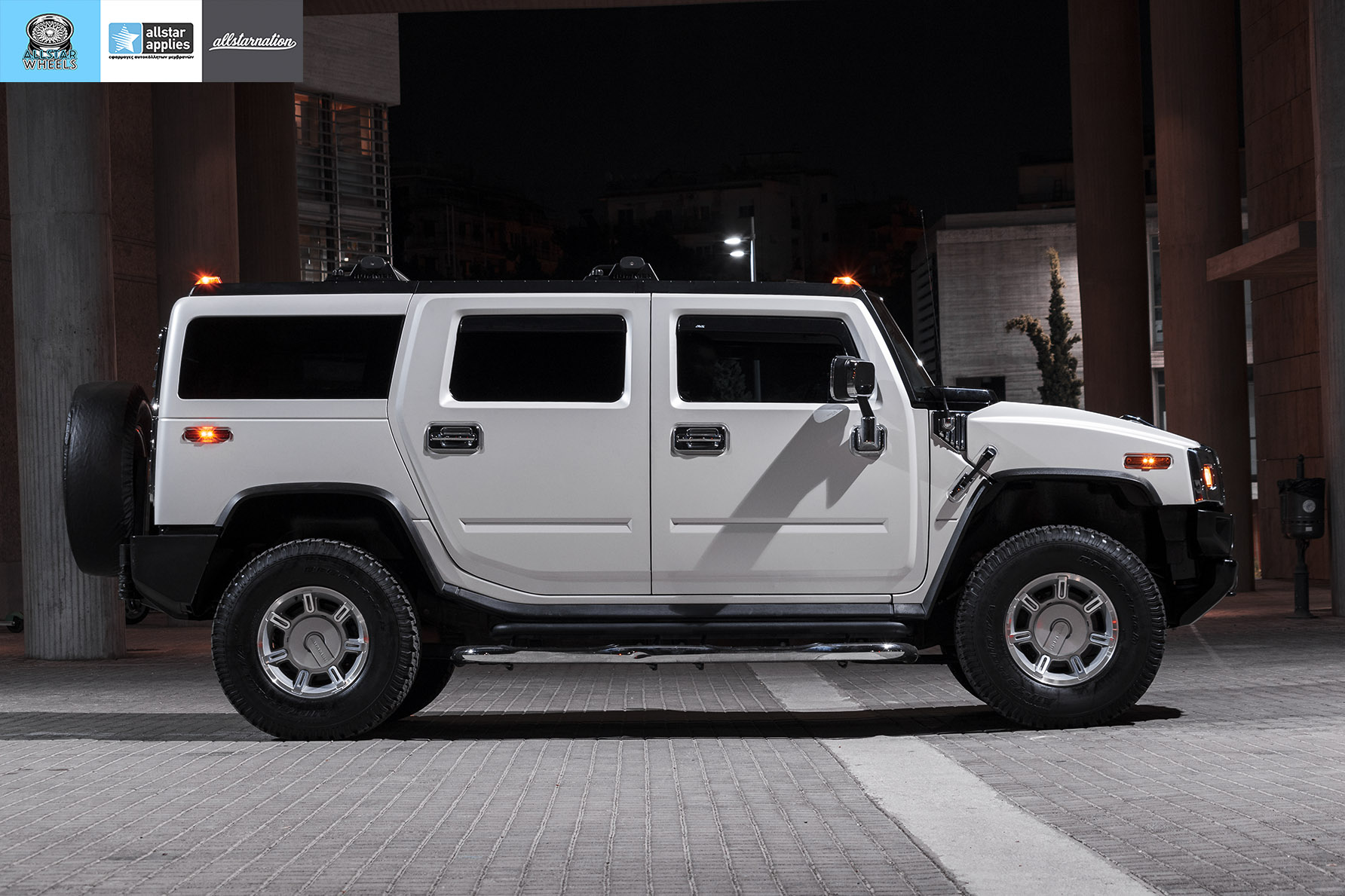 HUMMER H2 ALLSTAR APPLIES MATT DIAMOND WHITE PWF (6)