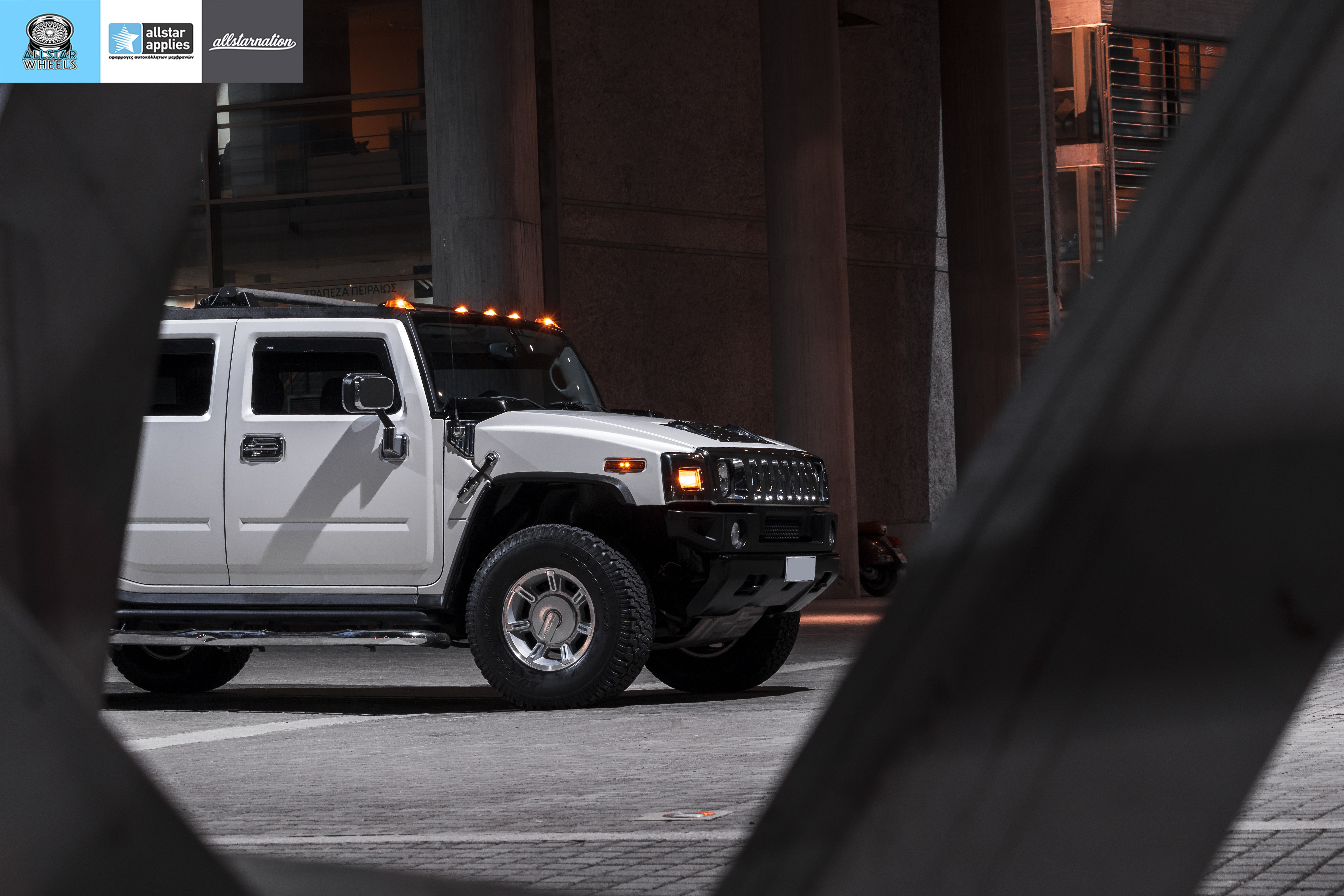 HUMMER H2 ALLSTAR APPLIES MATT DIAMOND WHITE PWF (9)