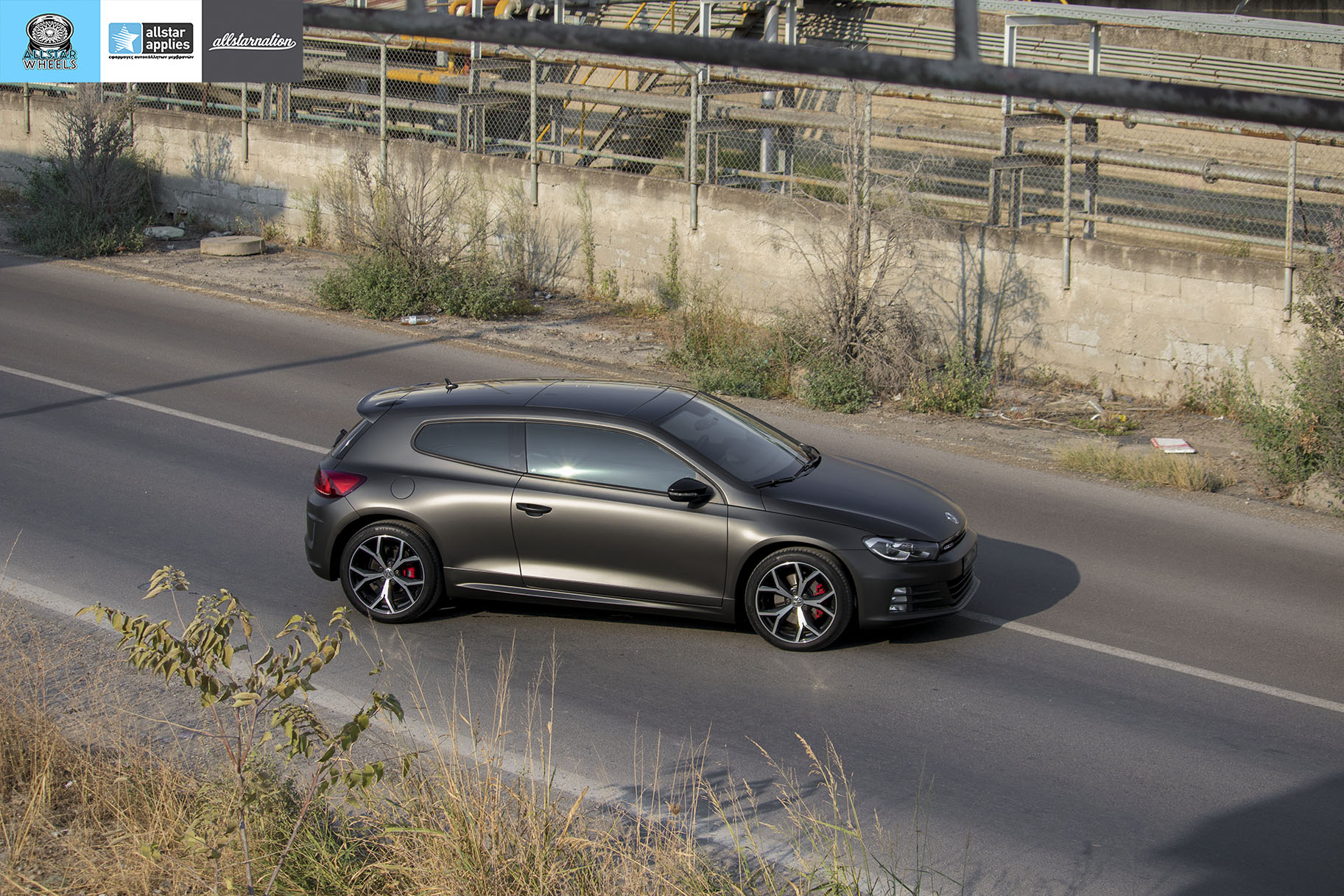 VW SCIROCCO MATT DIAMOND BLACK ALLSTAR APPLIES (15)