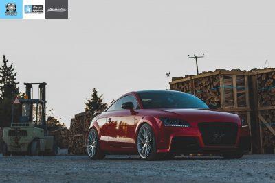 Audi TT Μεμβράνη αλλαγής χρώματος Red Luscious Lips. Car wrapping Θεσσαλονίκη allstar applies
