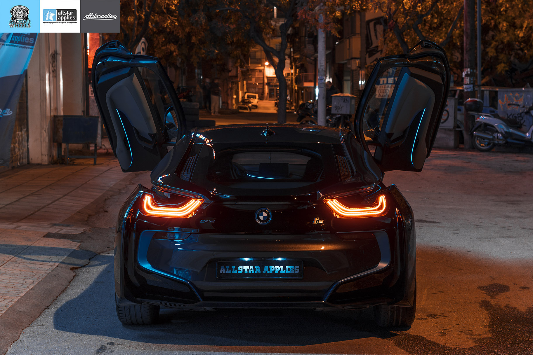 Car wrapping BMW i8 by allstar applies στη θεσσαλονίκη