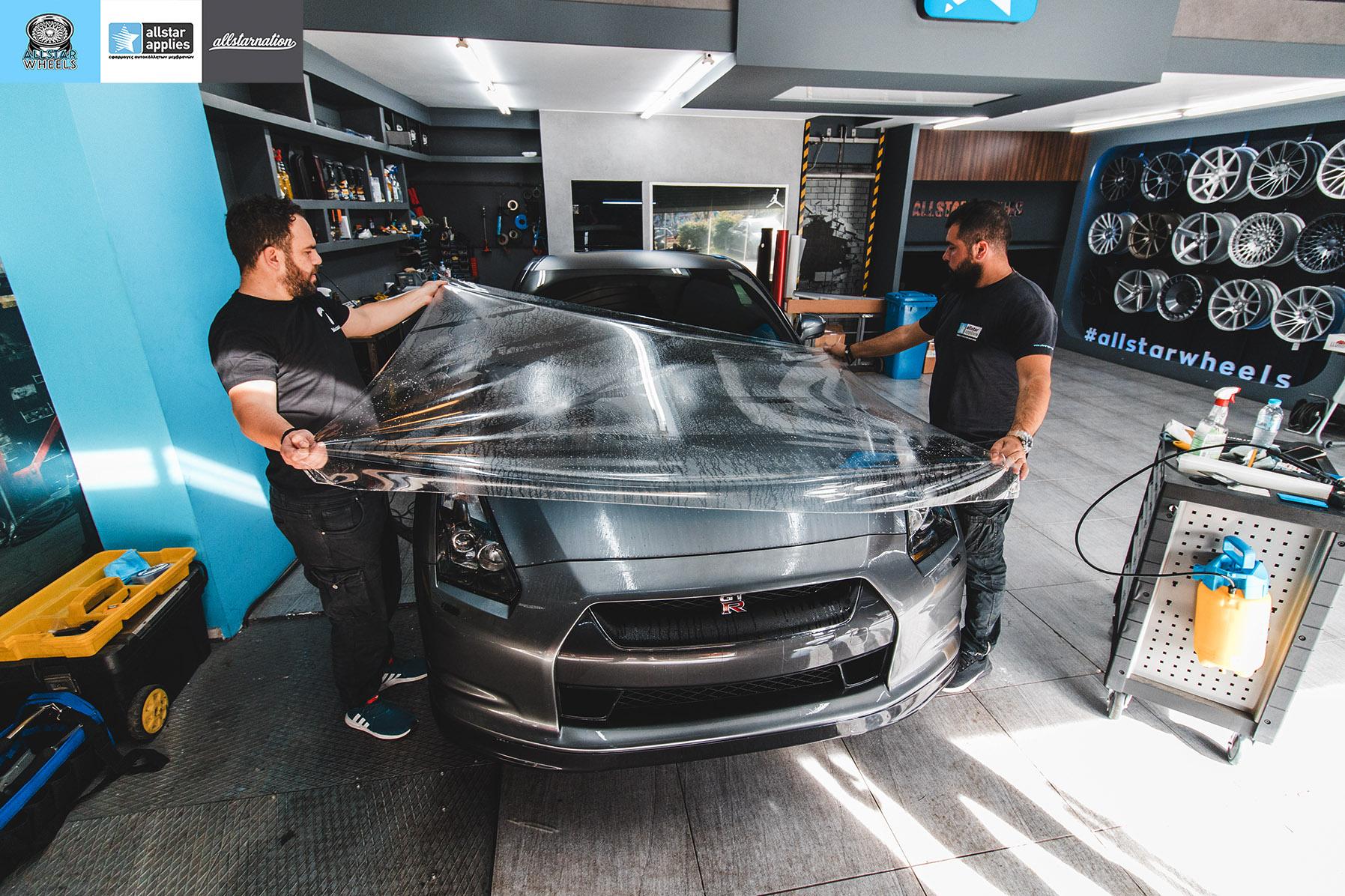 Αυτοκόλλητα αλλαγής χρώματος Nissan Skyline GTR στη Θεσσαλονίκη Allstar Applies