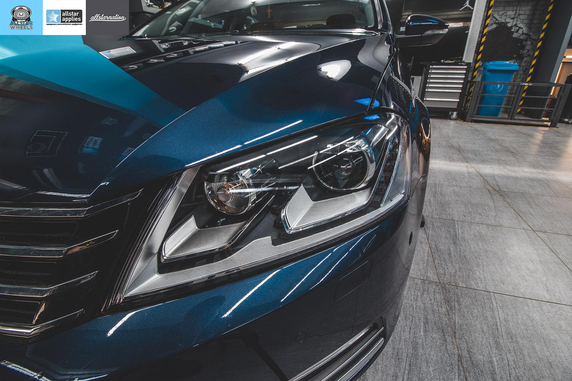 Μεμβράνες προστασίας φαναριών σε VW Passat στη θεσσαλονίκη Allstar Applies