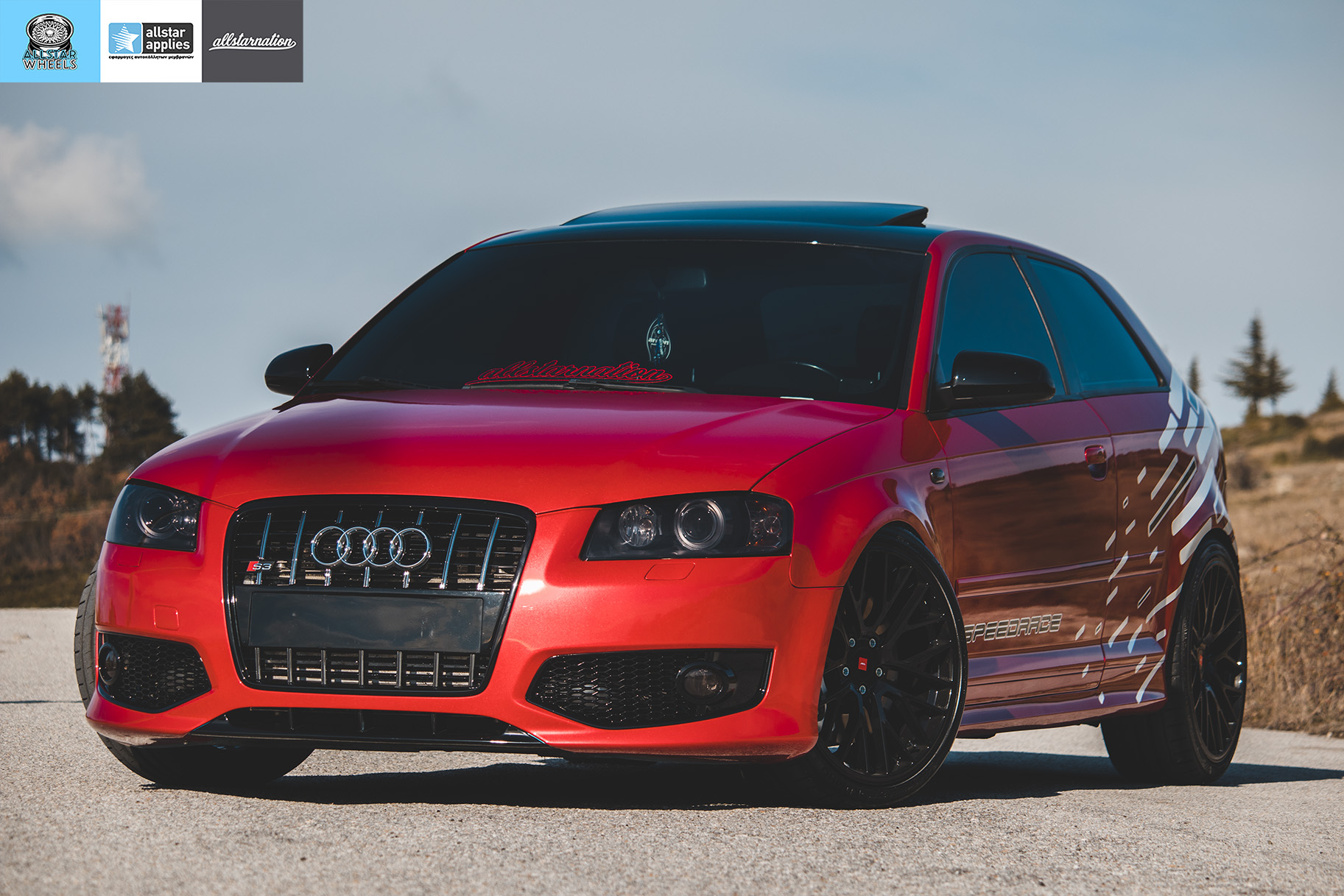 Audi s3 αλλαγή χρώματος με αυτοκόλλητα στη Θεσσαλονίκη Allstar Applies