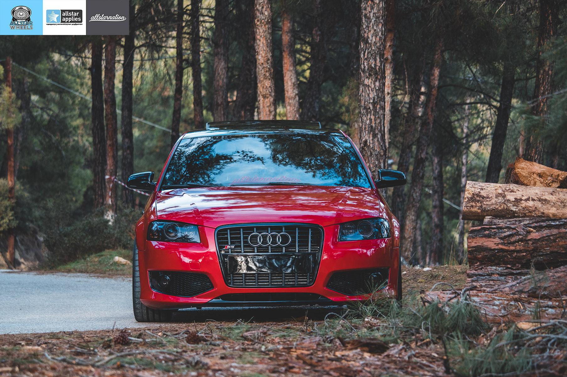 αλλαγή χρώματος με μεμβράνες Audi s3 θεσσαλονίκη allstar applies