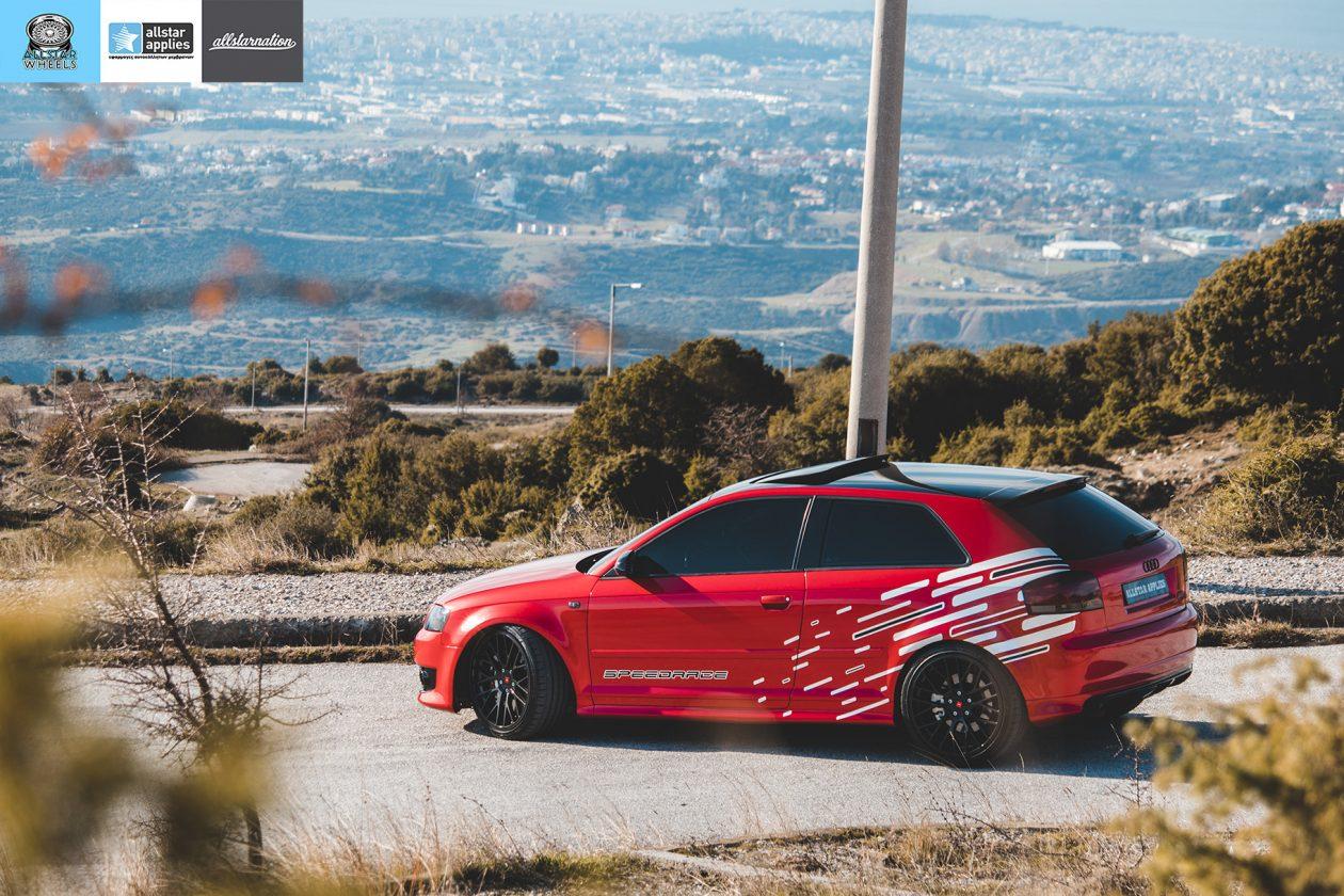 Audi s3 αλλαγή χρώματος με μεμβράνες στη Θεσσαλονίκη Allstar Applies
