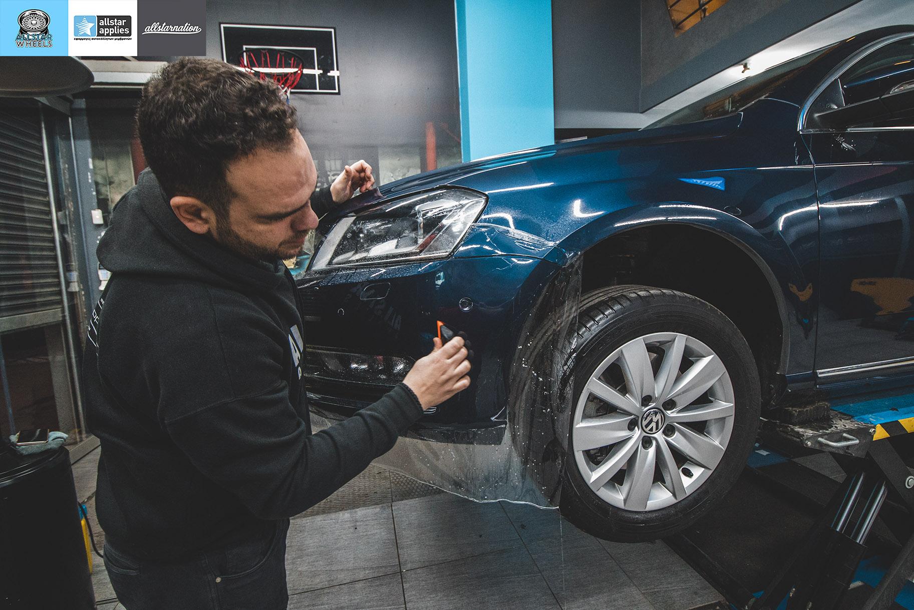 Αυτοκόλλητα προστασίας χρώματος σε VW Passat στη θεσσαλονίκη Allstar Applies