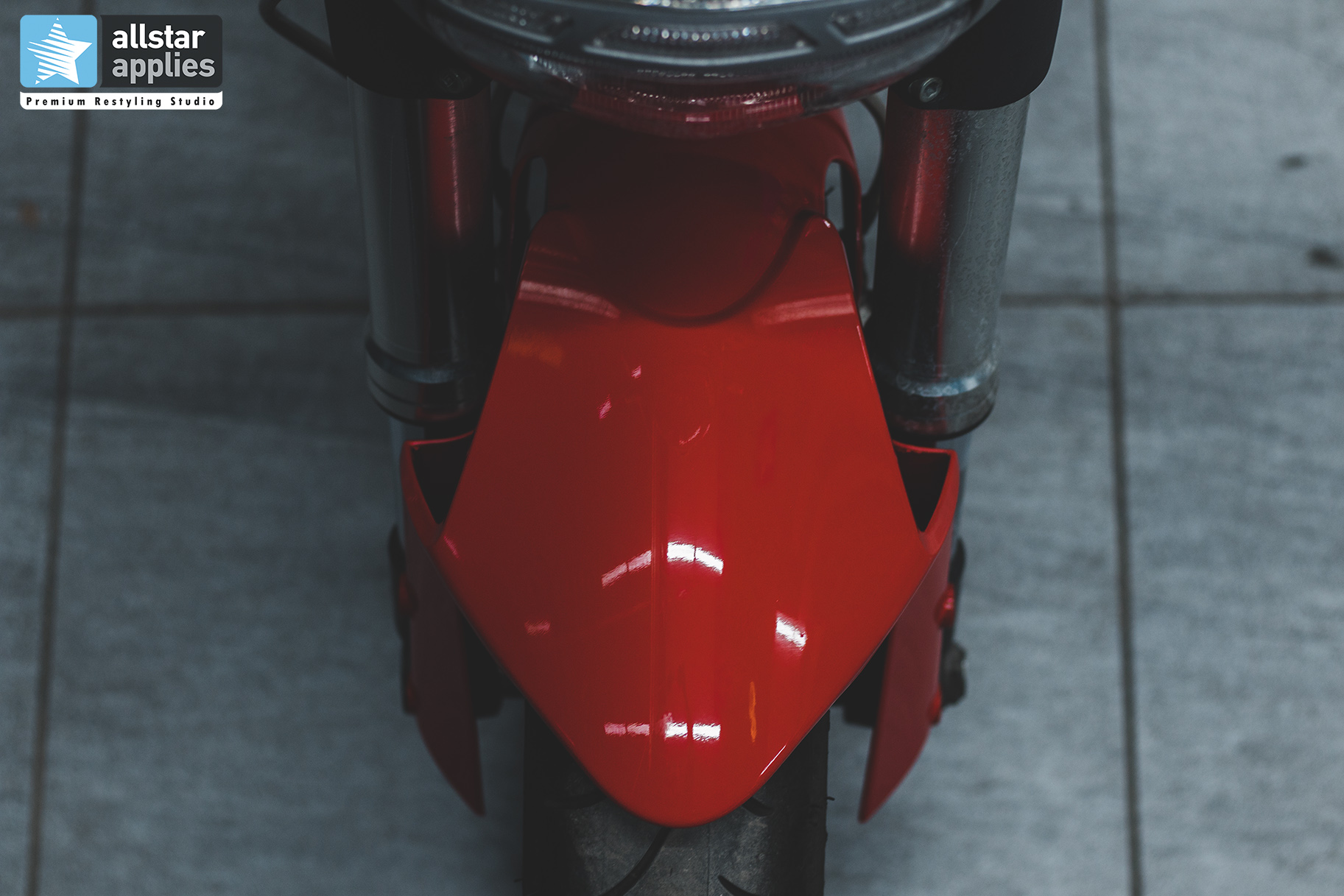 Μεμβράνες Αλλαγής χρώματος σε moto Ducati στη θεσσαλονίκη, Allstar Applies