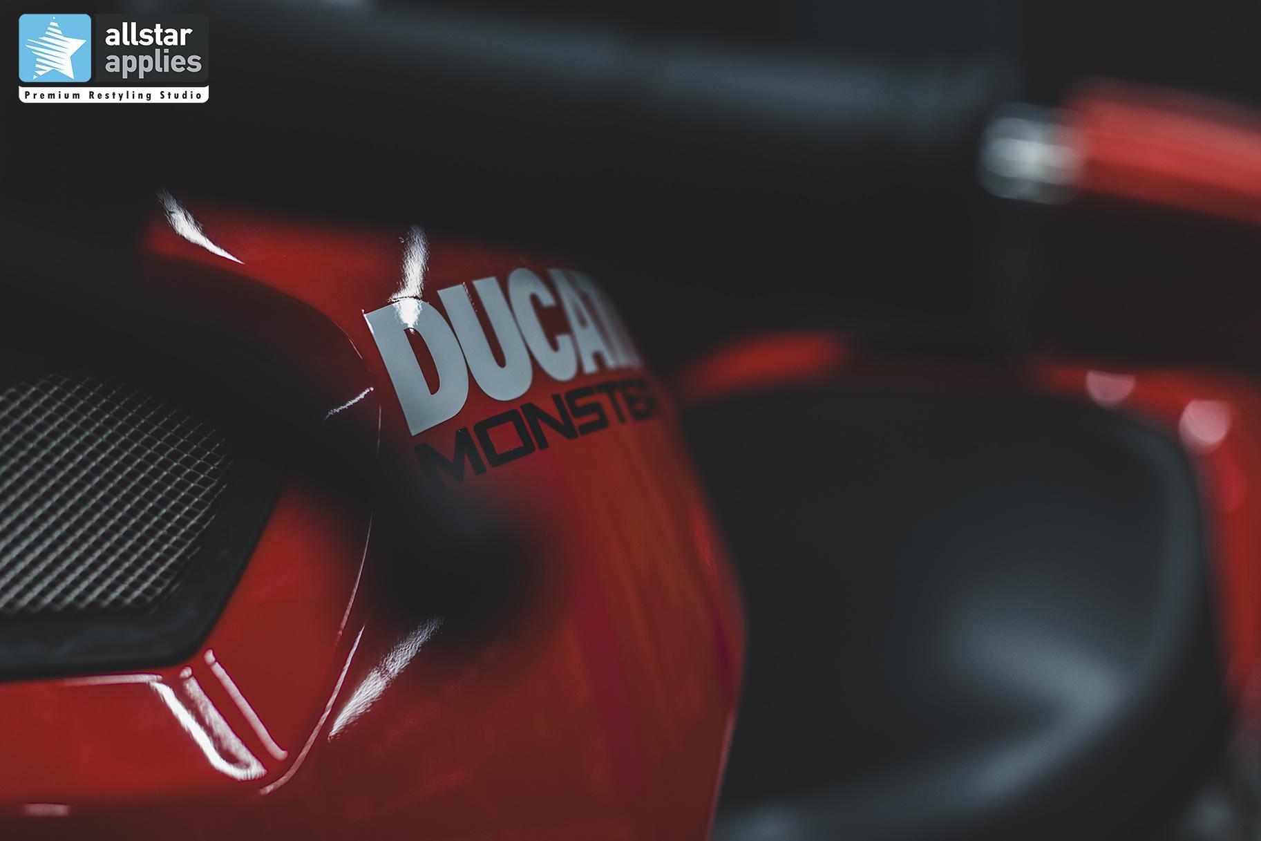 Μεμβράνες Αλλαγής χρώματος σε μηχανή Ducati στη θεσσαλονίκη, Allstar Applies