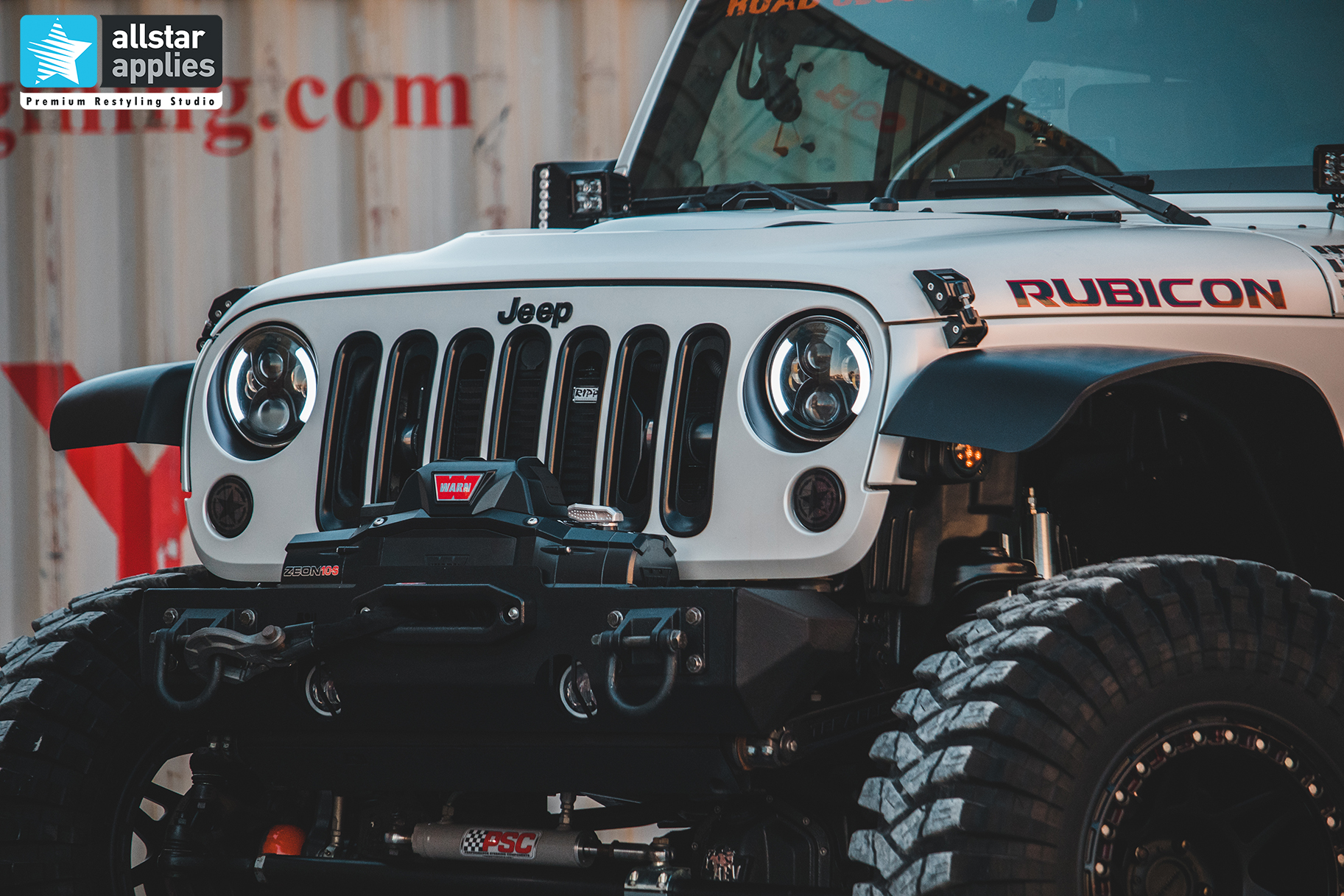 Jeep Rubicon αλλαγή χρώματος με αυτοκόλλητα στη θεσσαλονίκη allstar applies