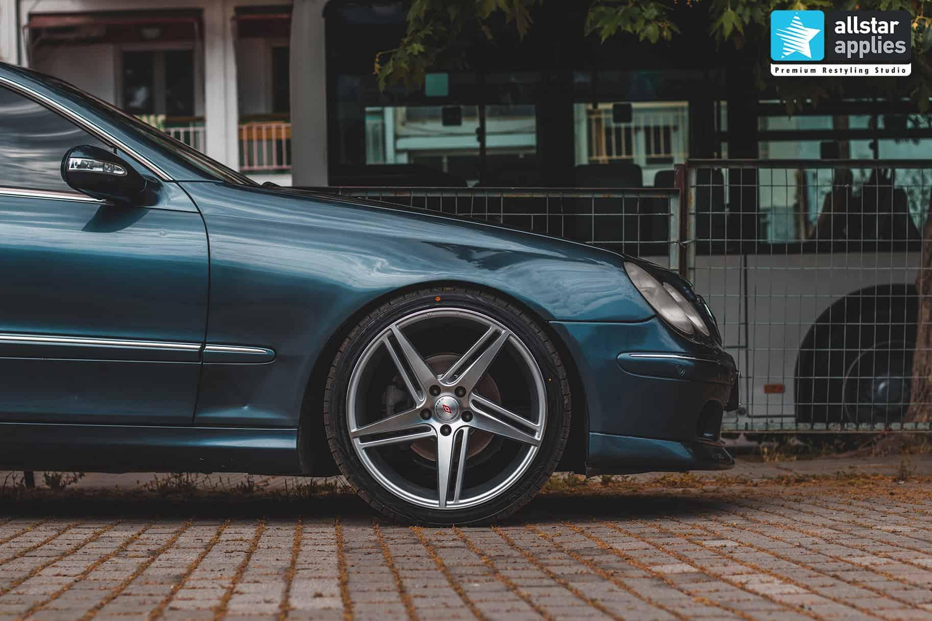 Αυτοκόλλητα αλλαγής χρώματος στη Θεσσαλονίκη σε Mercedes Benz CLK Allstar Applies