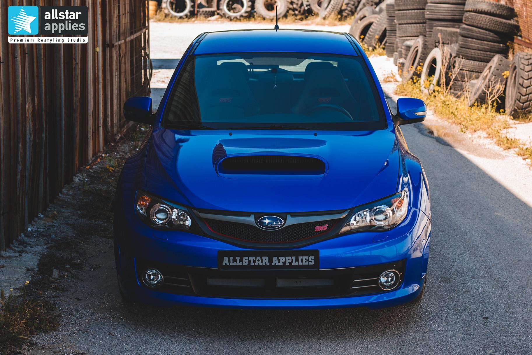 Προστασία χρώματος αυτοκινήτου με μεμβράνες σε subaru impreza wrx στη Θεσσαλονίκη Allstar Applies