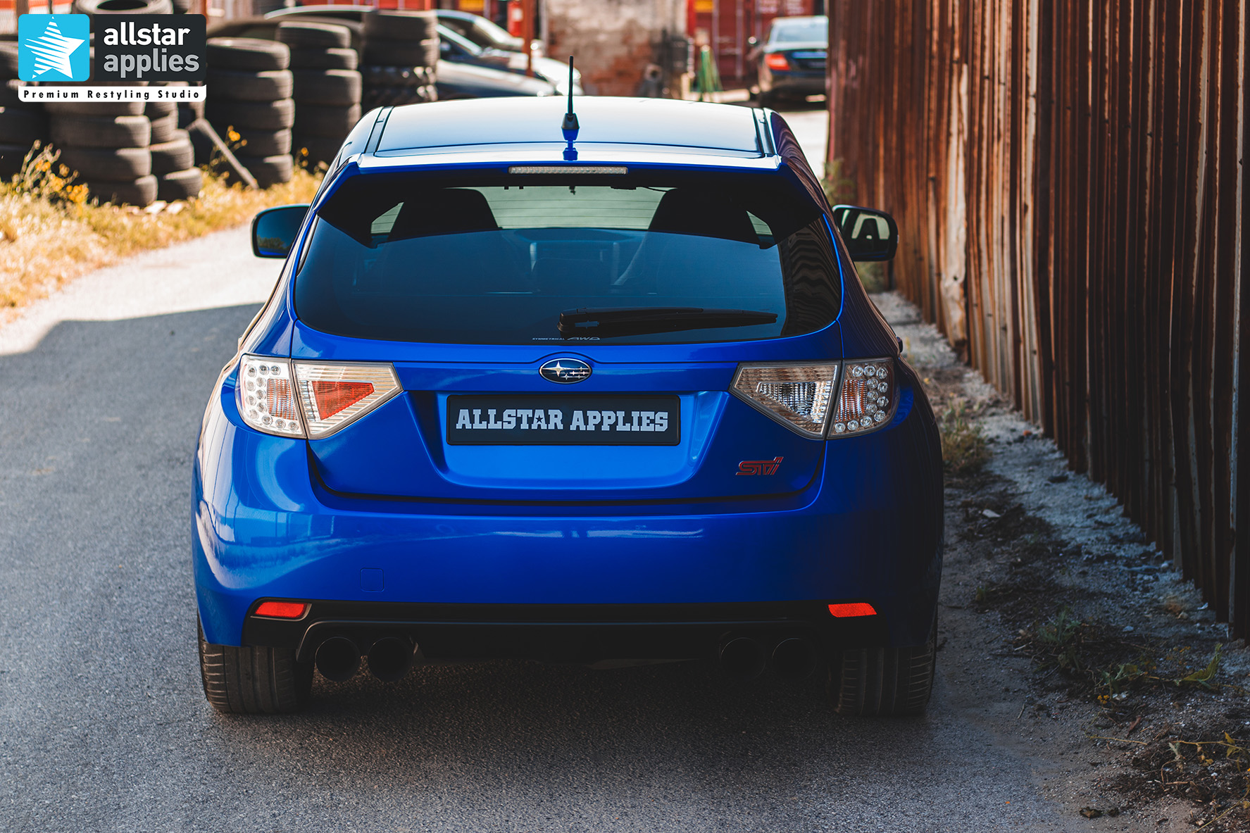 Αλλαγή χρώματος αυτοκινήτου με μεμβράνες σε subaru impreza wrx στη Θεσσαλονίκη Allstar Applies