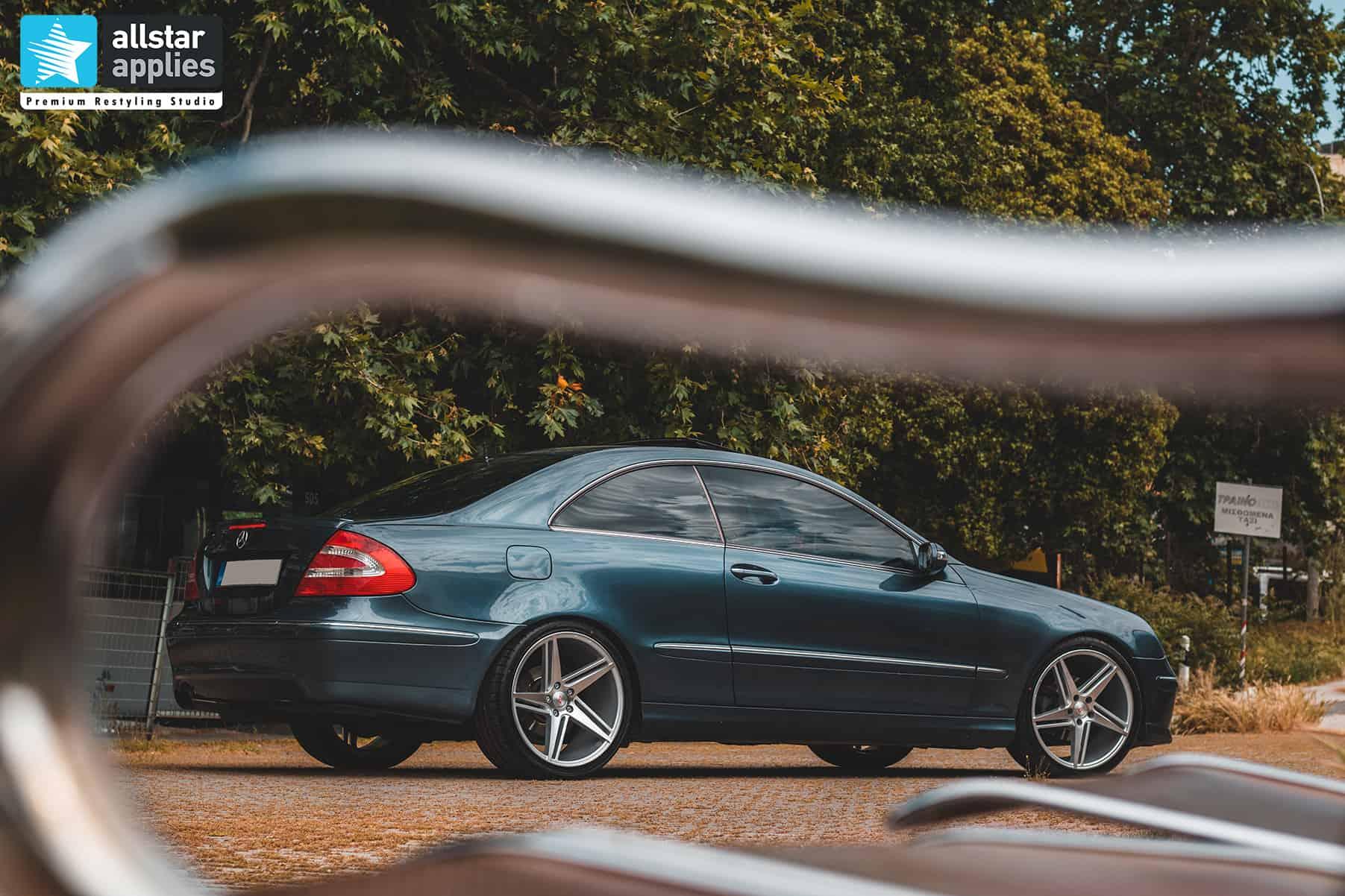 αλλαγής χρώματος με αυτοκόλλητα στη Θεσσαλονίκη σε Mercedes Benz CLK Allstar Applies