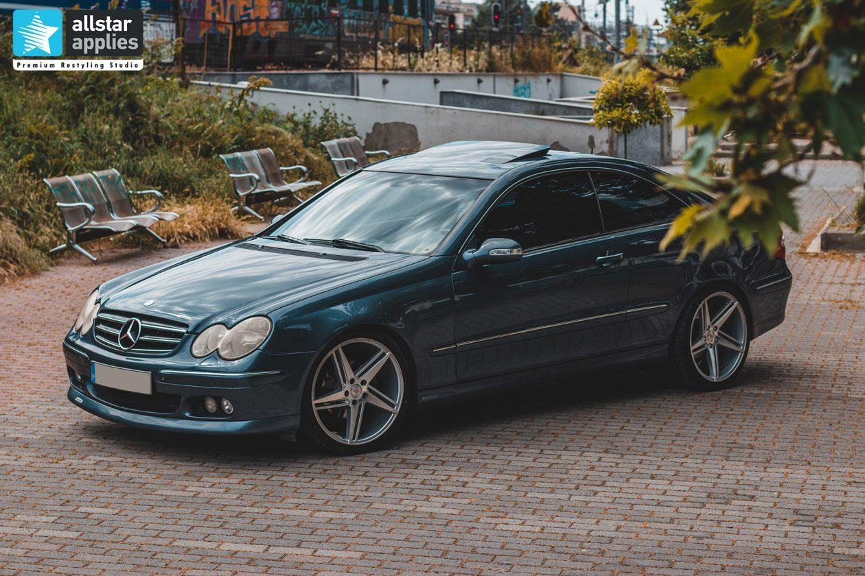 Προστασία χρώματος με μεμβράνες στη Θεσσαλονίκη σε Mercedes Benz CLK Allstar Applies